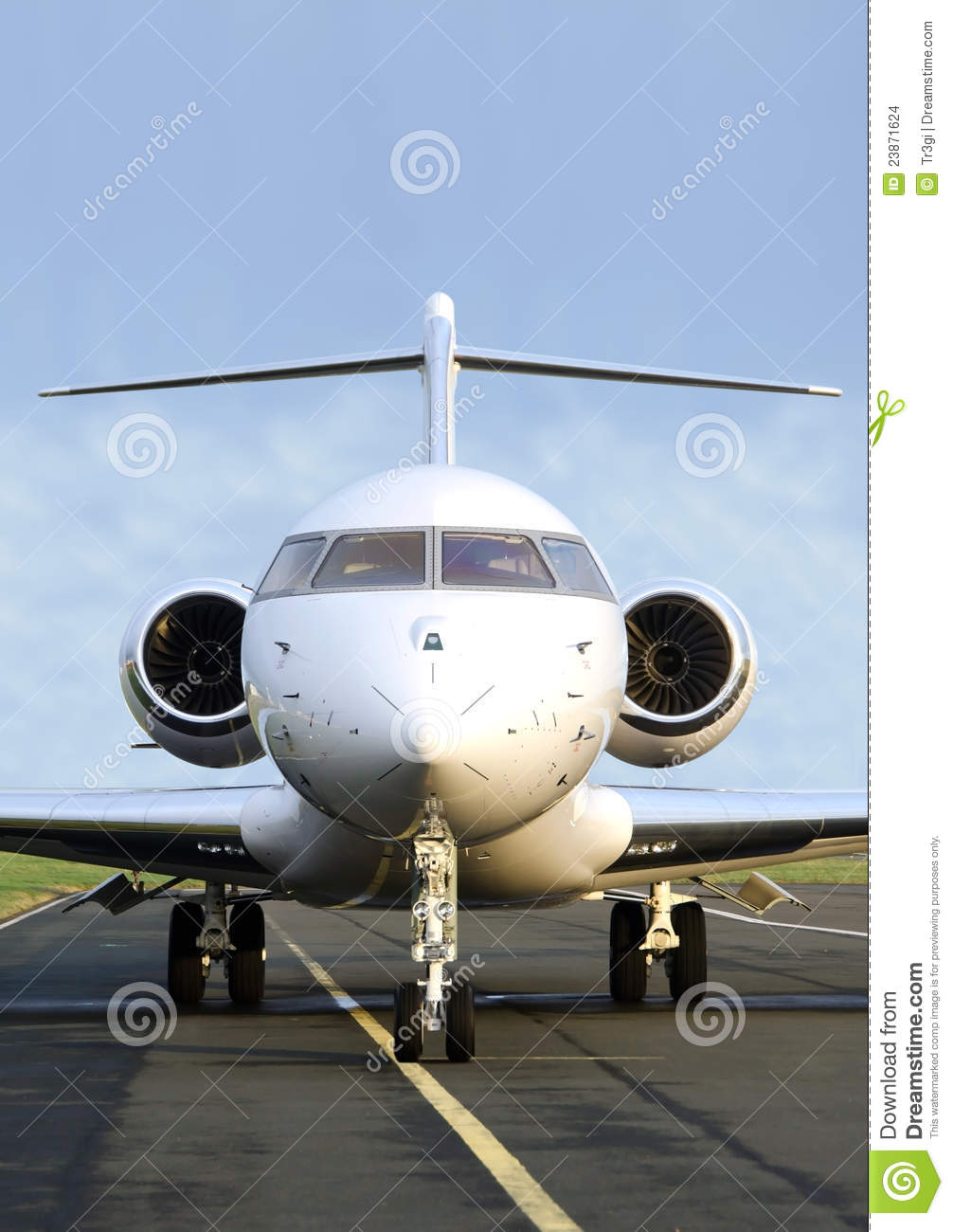 Private Jet Plane Front View  Bombardier Stock Images  Image 23871624