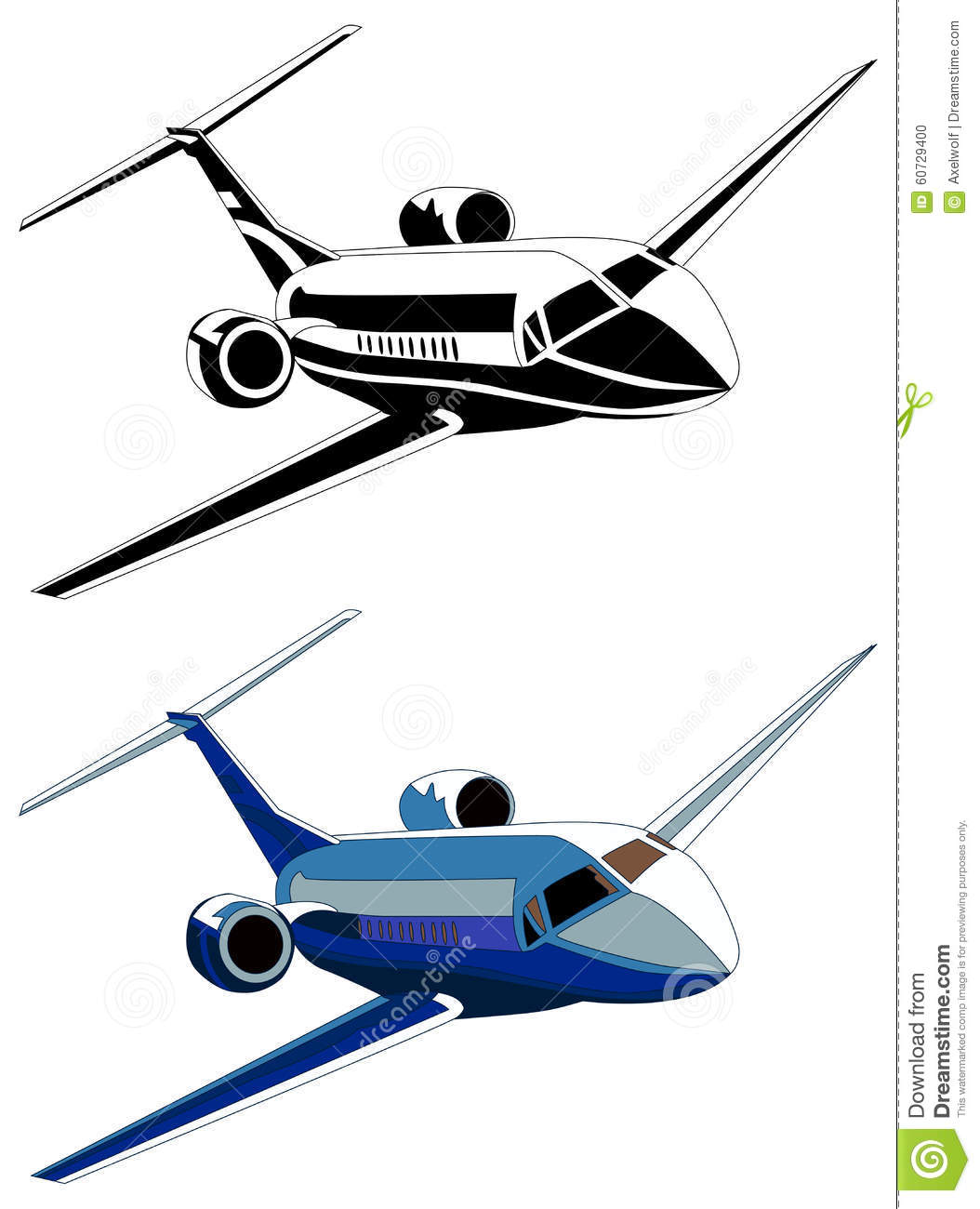 Private Jet Vector Illustration Stock Vector  Image 60729400