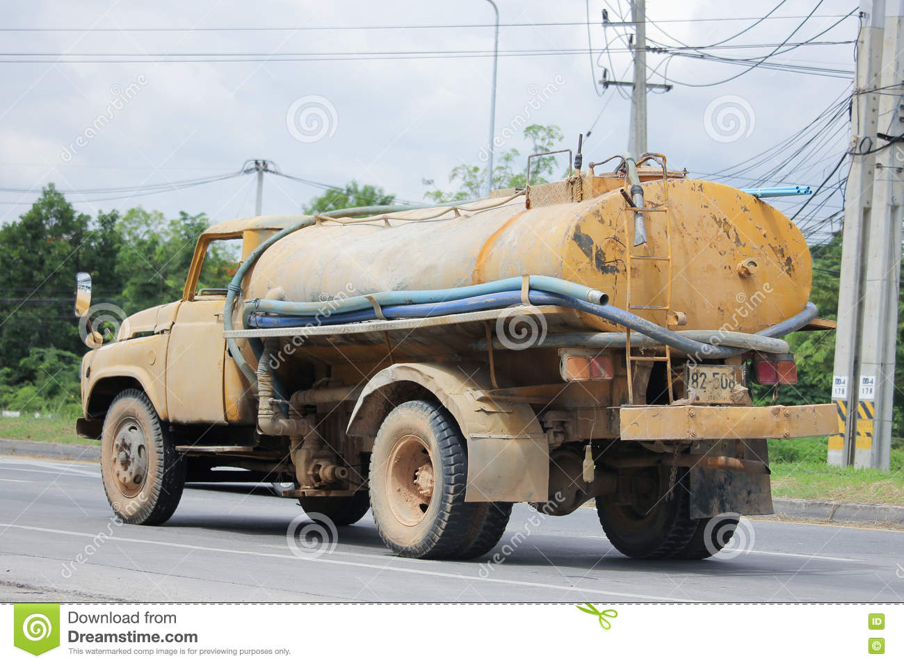 Private Old Water Tank Truck  Editorial Photo - Image of chiangmai