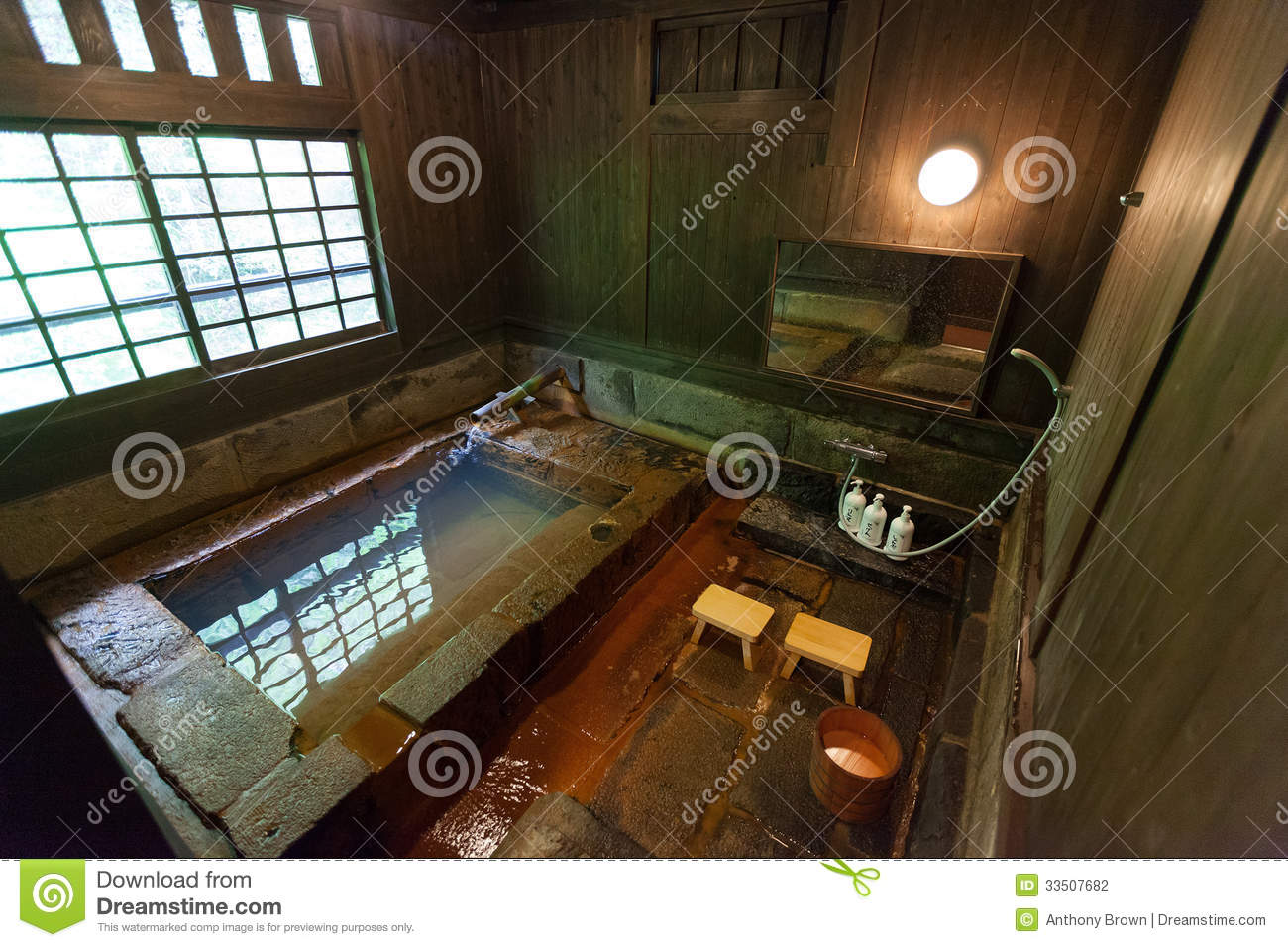 Private onsen stock photo image of japan stone bathroom - Ryokan tokyo with private bathroom ...