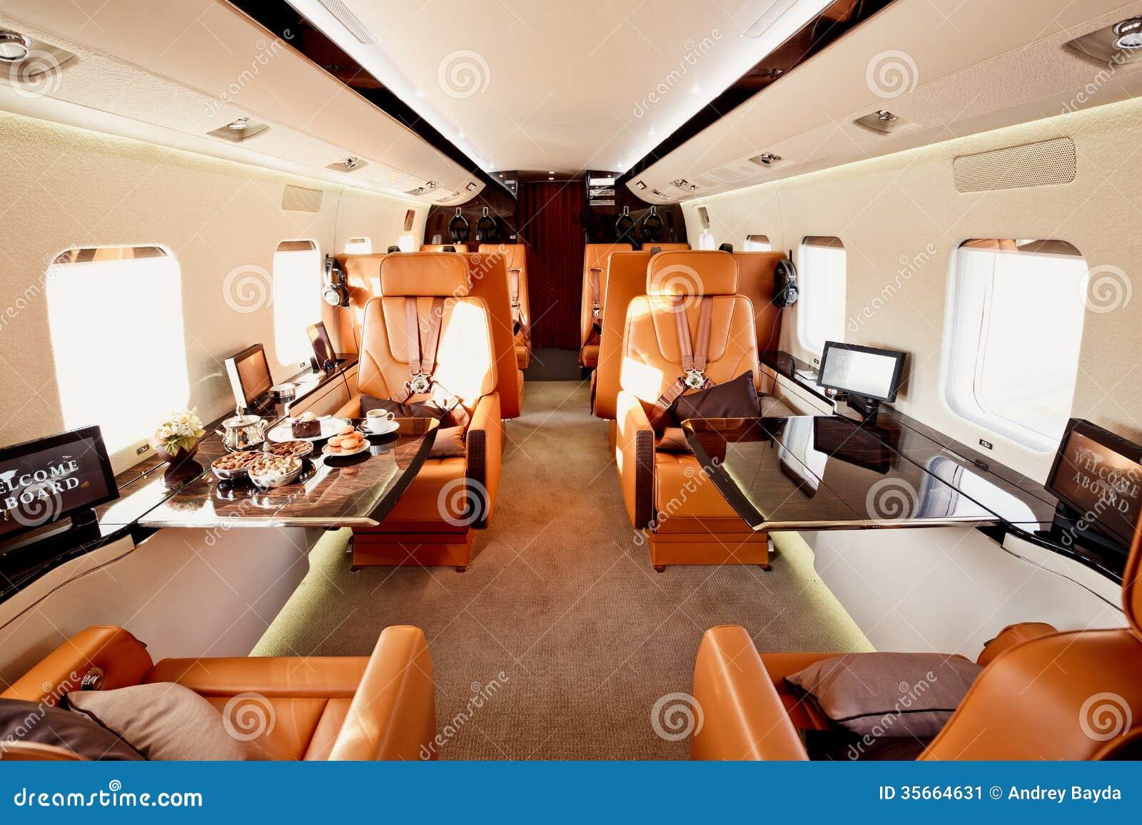 Private Plane Interior Stock Image Image 35664631