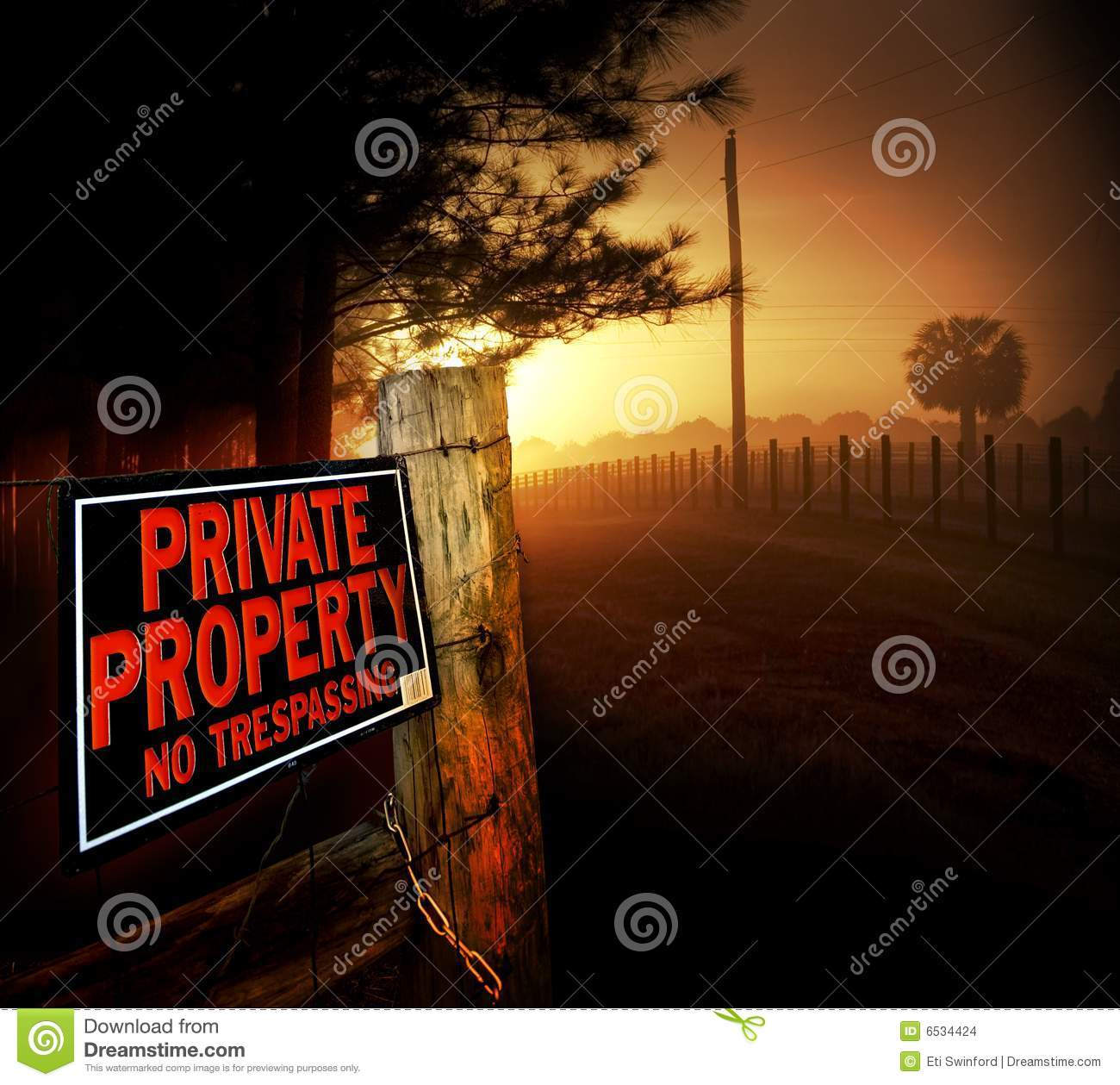 Private Property entrance