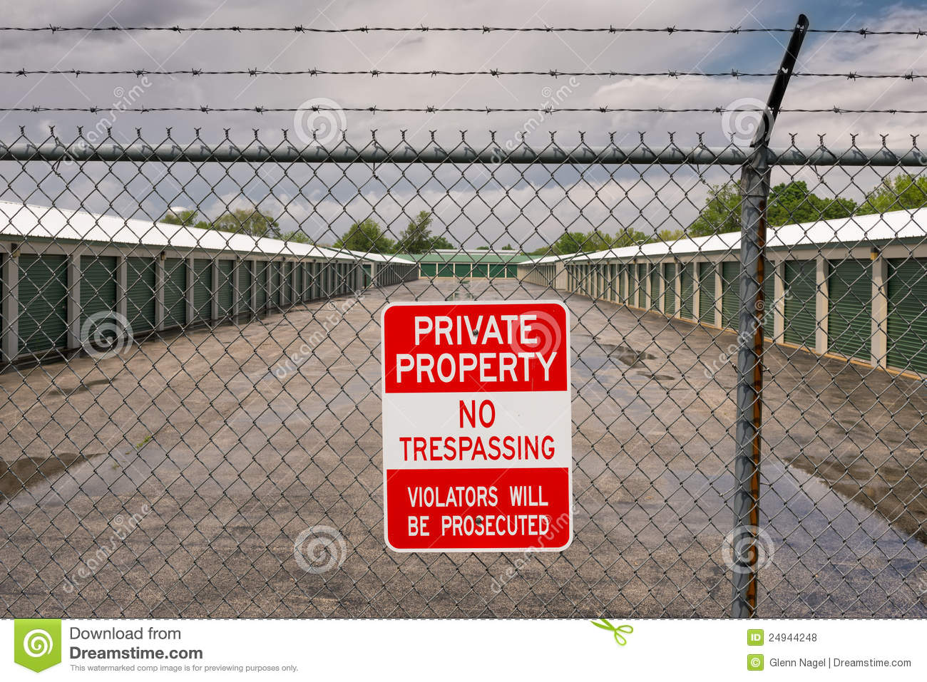 Private Property No Trespassing Royalty Free Stock Photos