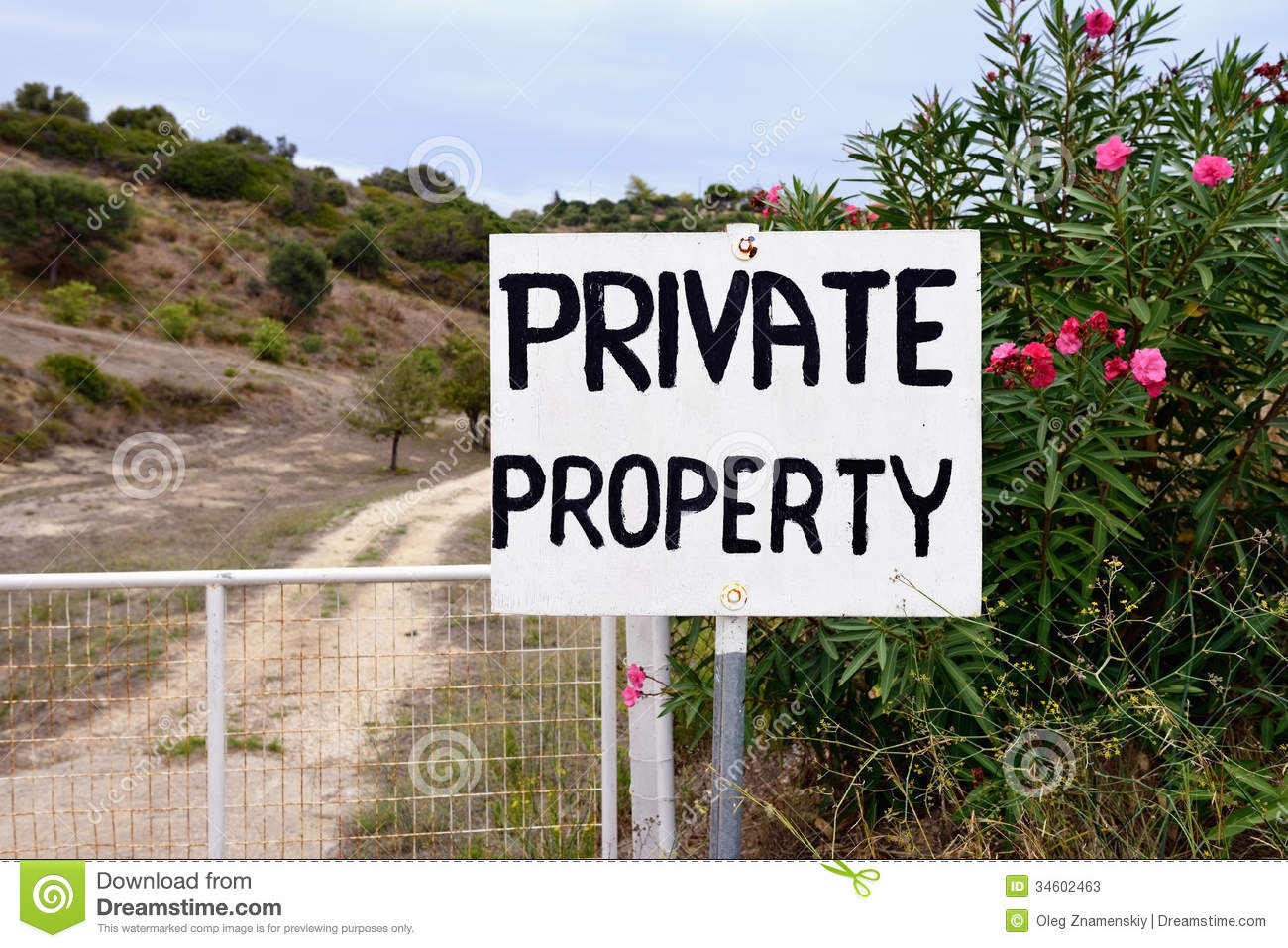 Private Property Stock Image Image Of Rural Alert