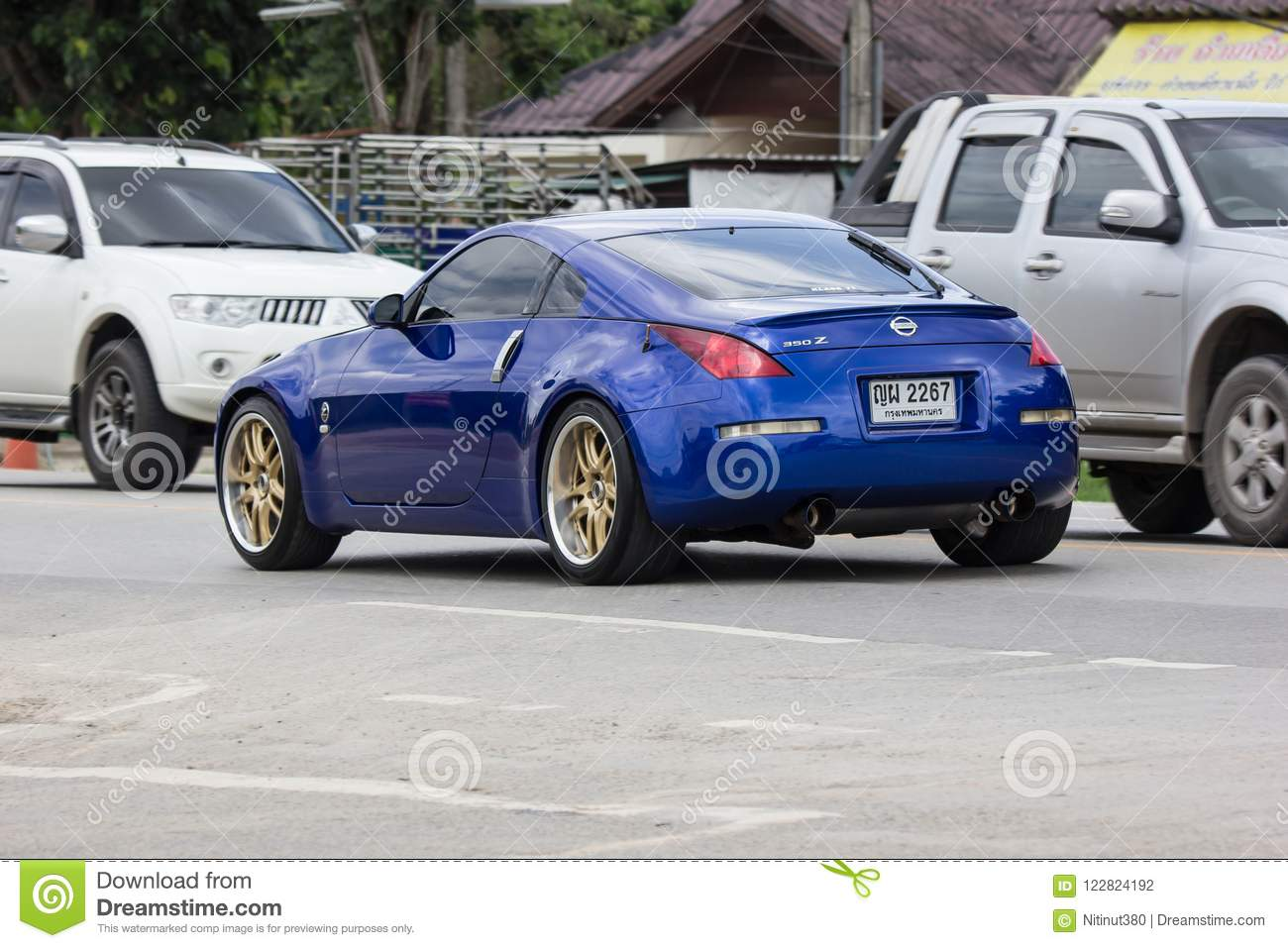 Private Racing Car, Nissan 350Z  Editorial Photography