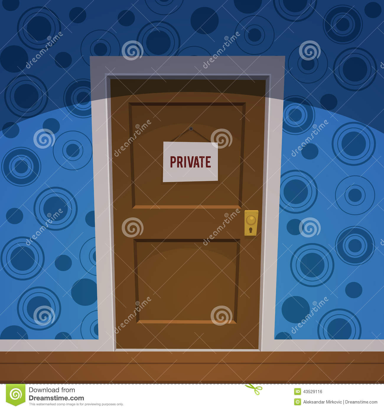 Private Room Stock Vector Image 43529116