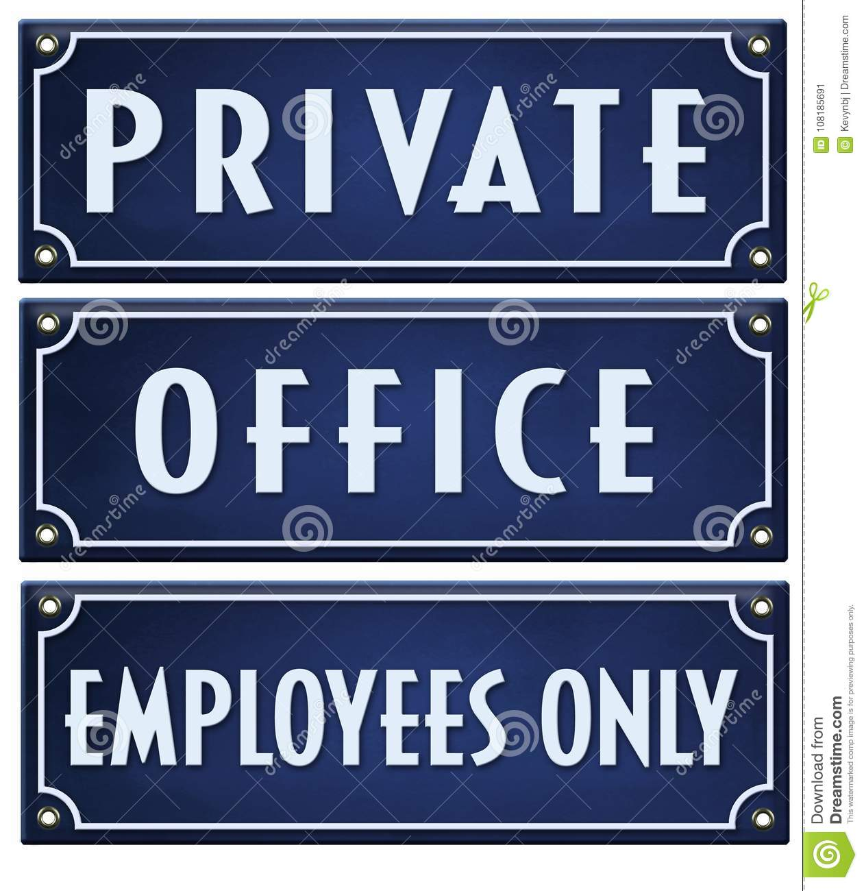 Private Sign Office Employees