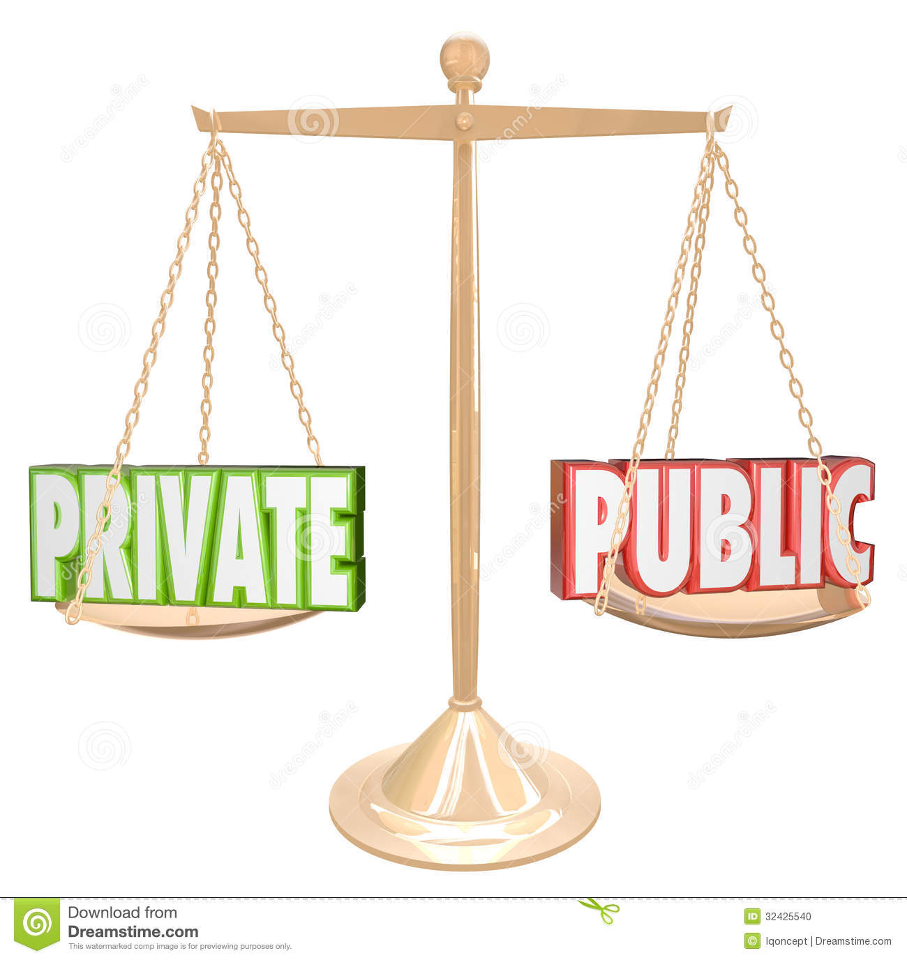 Private Vs Public Information Details Confidential Secrecy Stock Photo ...