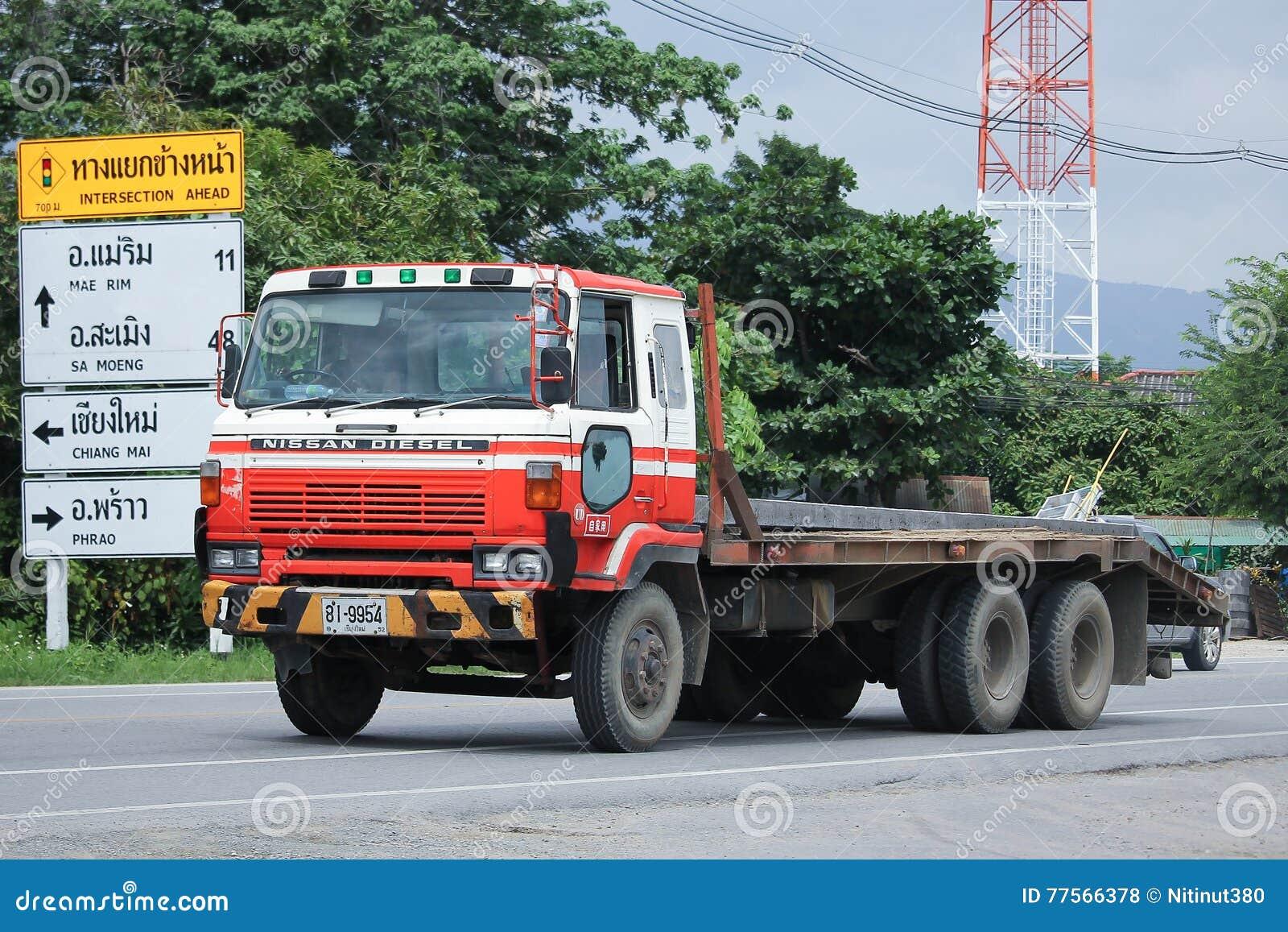 Privater Alter Nissan Diesel Truck Redaktionelles Stockfoto Bild
