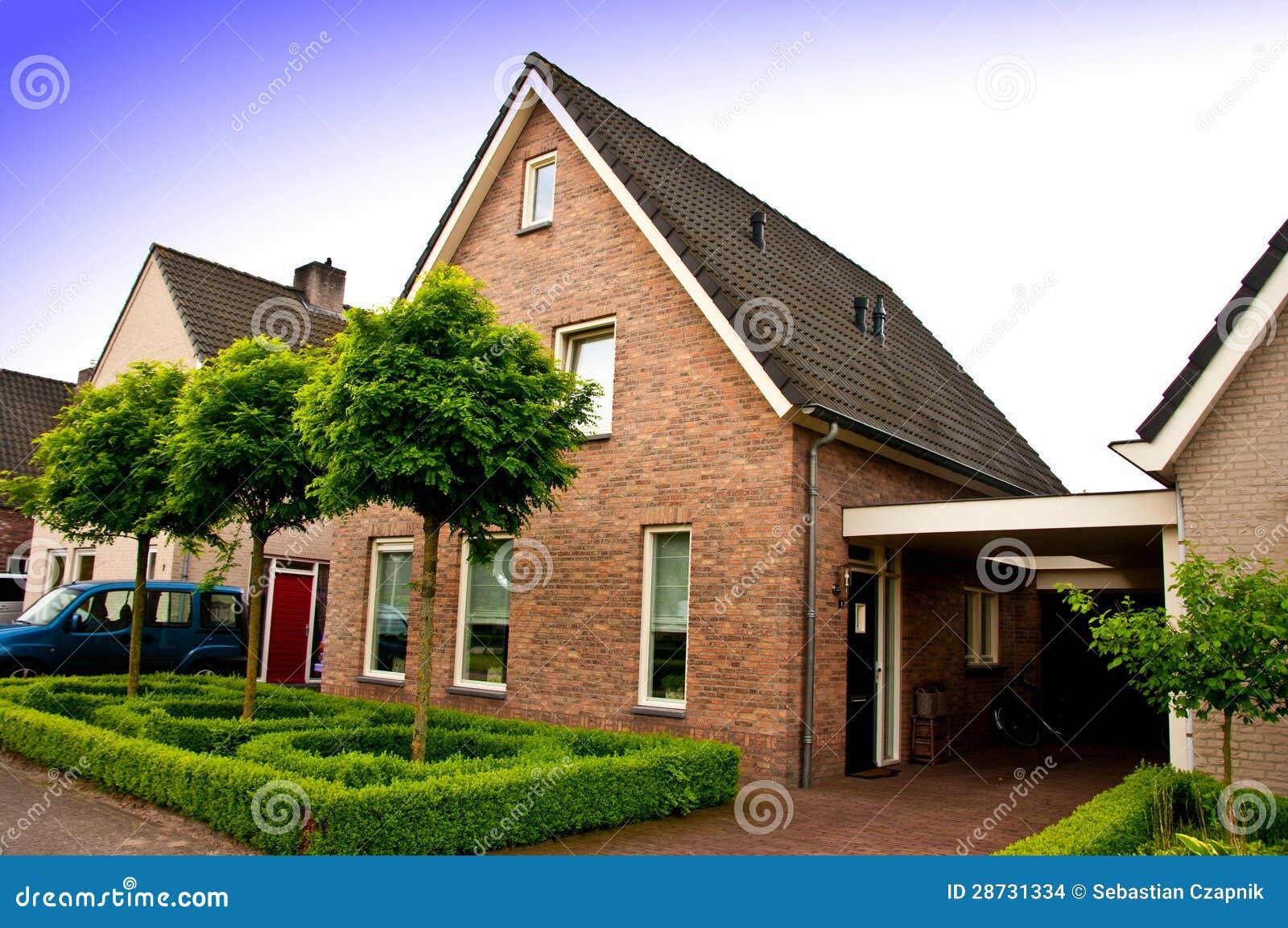 privates haus in holland stockbilder bild 28731334. Black Bedroom Furniture Sets. Home Design Ideas