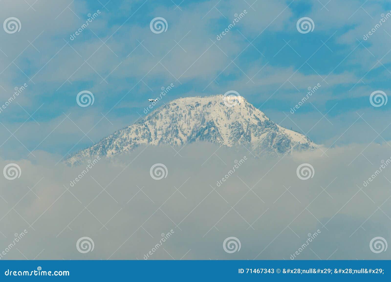 Privatflugzeug führt Mt baldy