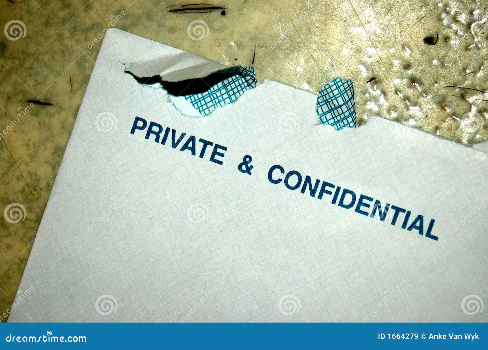Privato e confidenziale