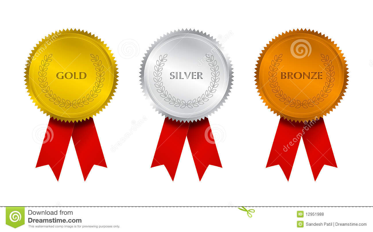 Prize Seal With Ribbons Royalty Free Stock Photos - Image ...