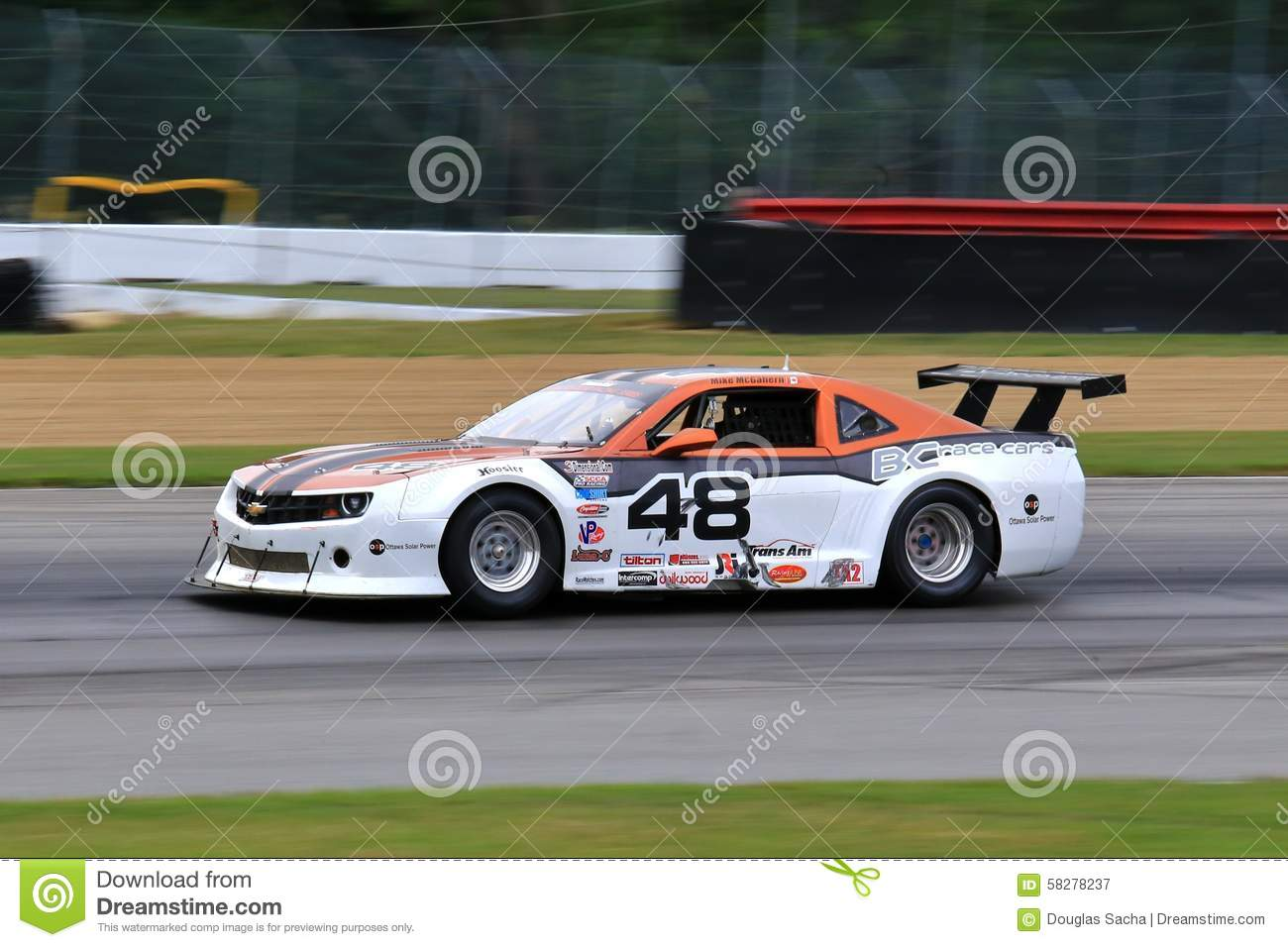 Pro Chevrolet Camaro Race Car On The Course Editorial