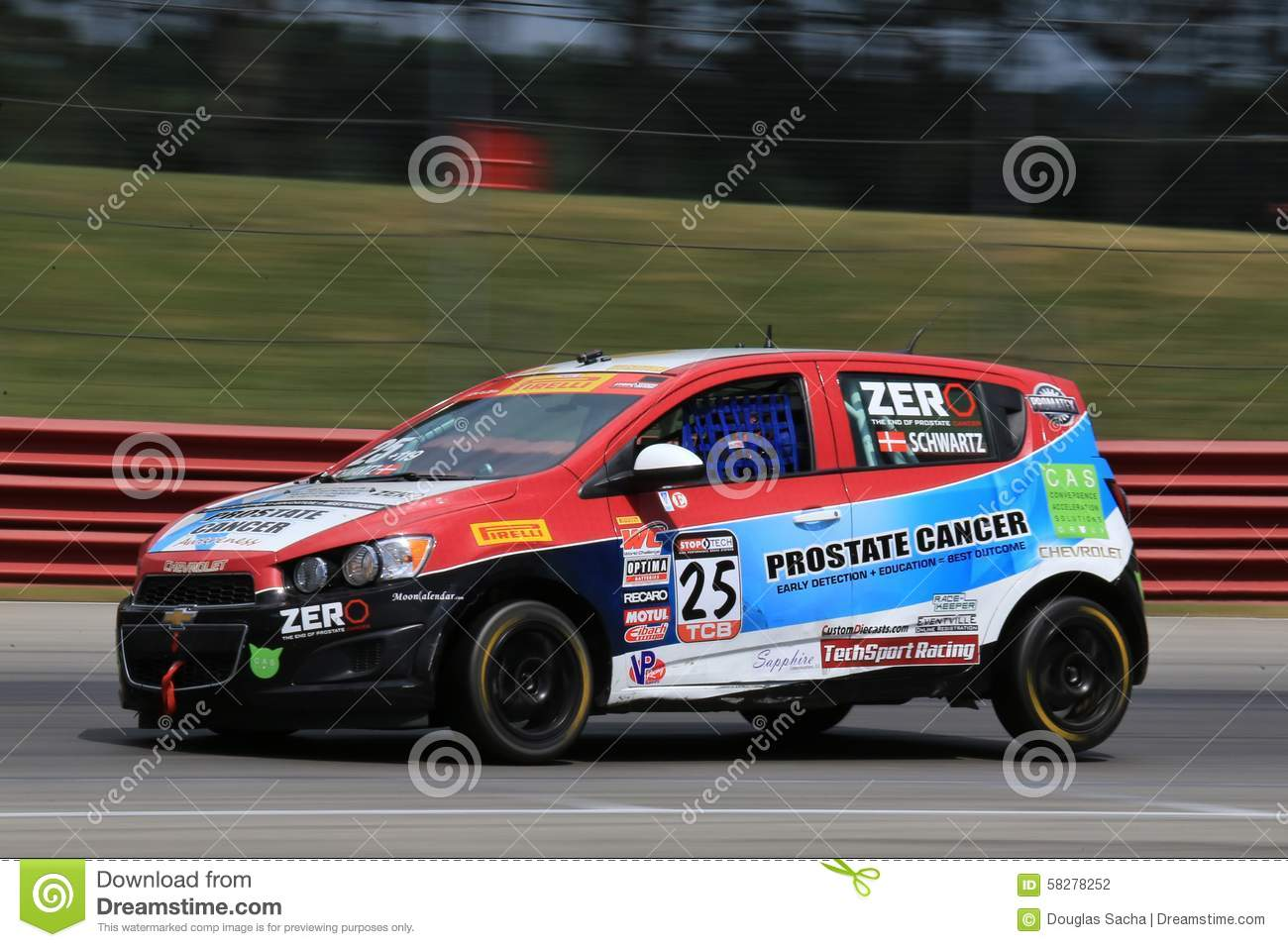 Pro Chevrolet Sonic Race Car On The Course Editorial