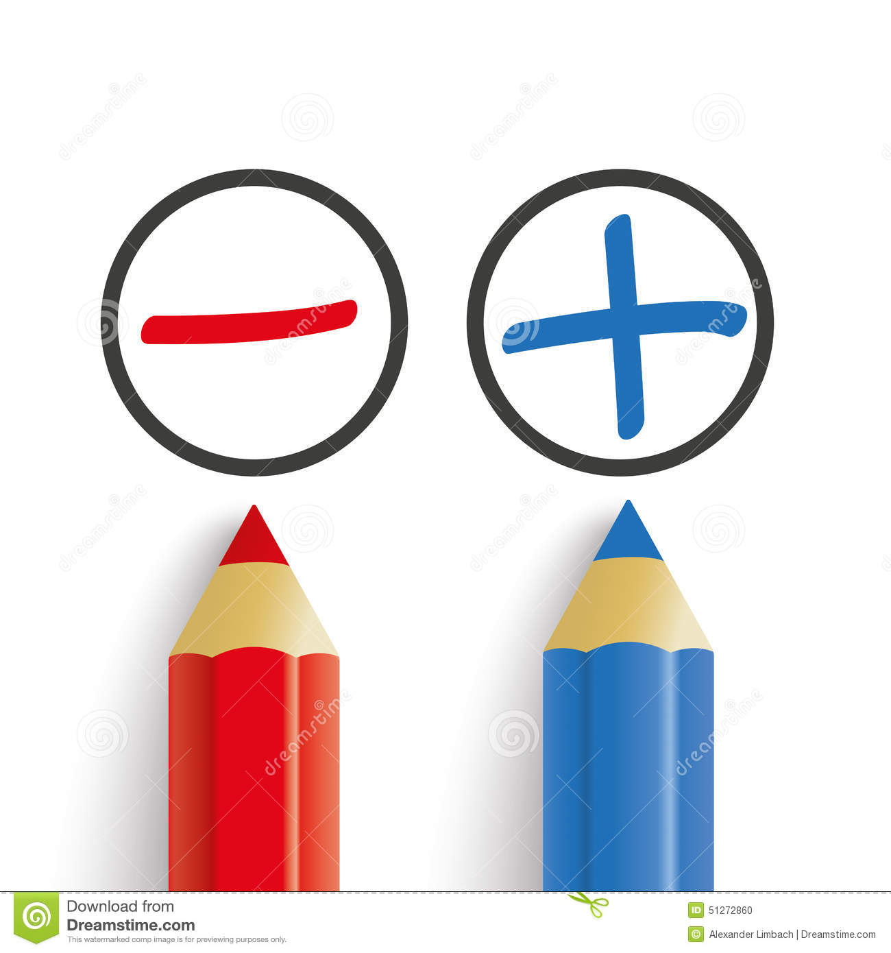 Kücheninsel Pro Contra ~ pro contra red blue pens stock vector image of against 51272860