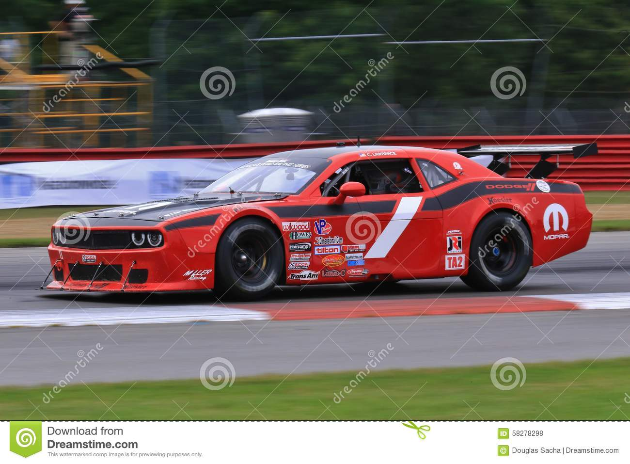 Pro Dodge Challenger Race Car On The Course Editorial Stock Photo