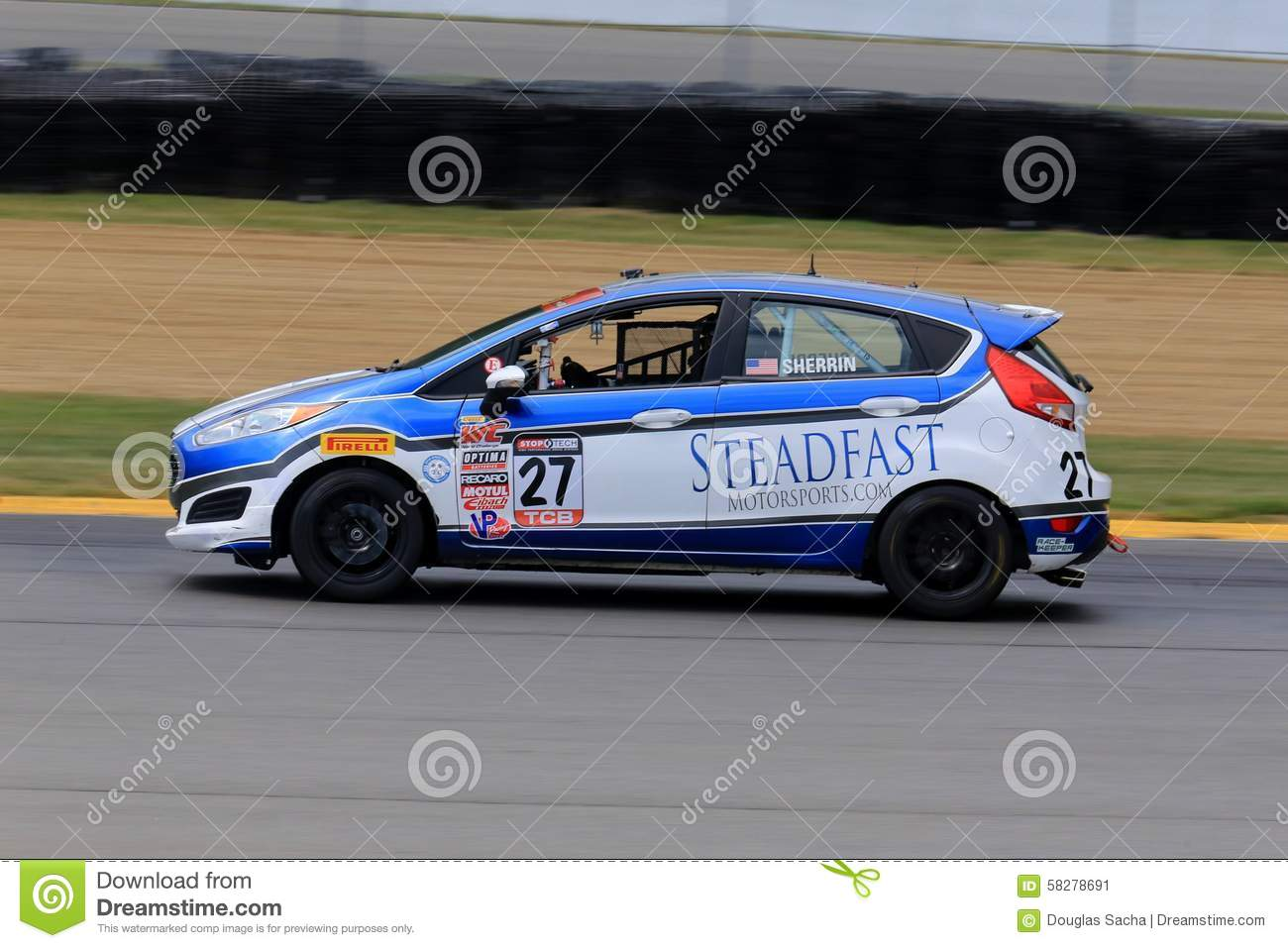 Pro Ford Fiesta Race Car On The Course Editorial Photo