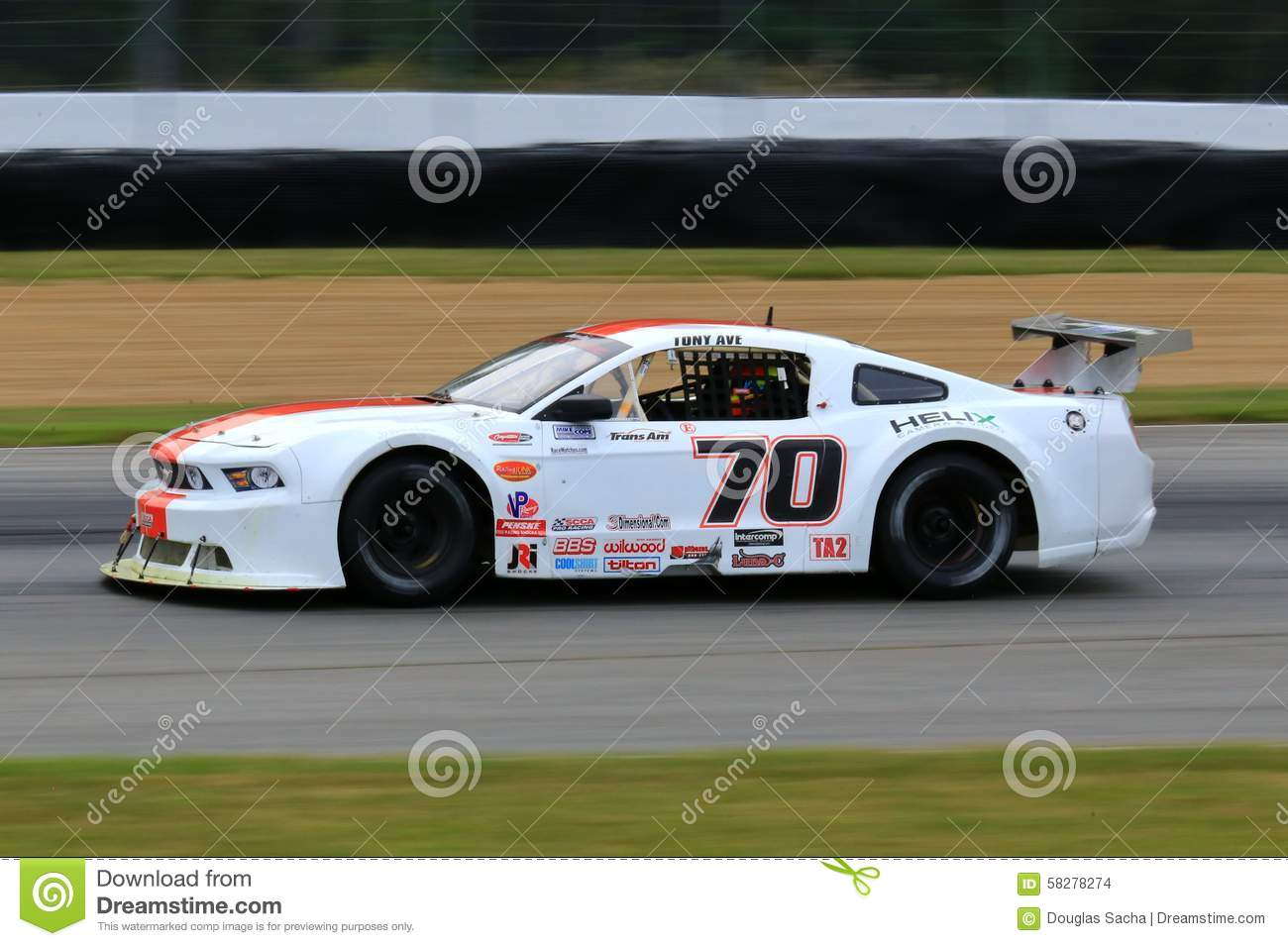 Mid Ohio Raceway >> Pro Ford Mustang Race Car On The Course Editorial Stock Image - Image: 58278274