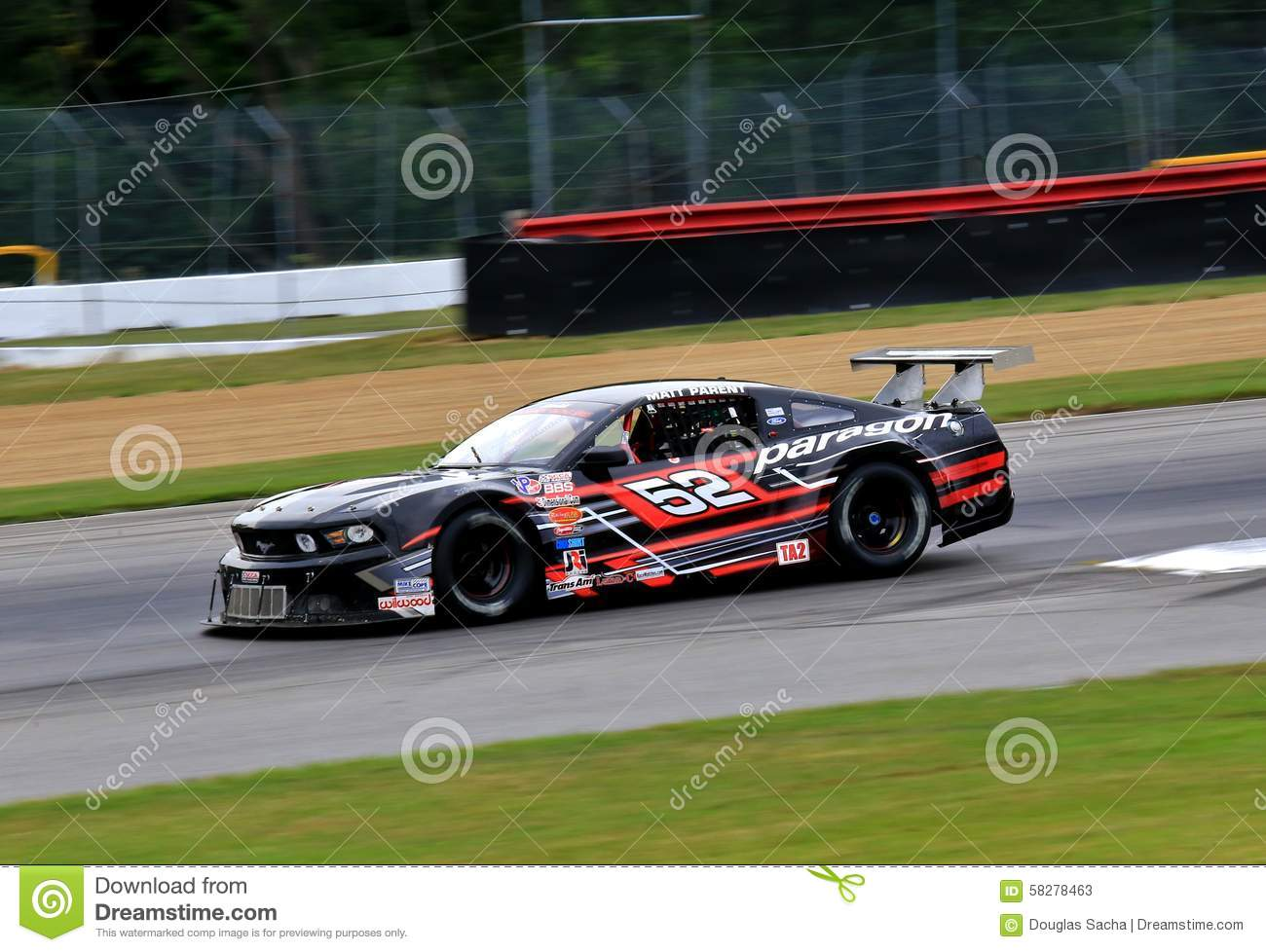 Mid Ohio Raceway >> Pro Ford Mustang Race Car On The Course Editorial Stock Photo - Image: 58278463