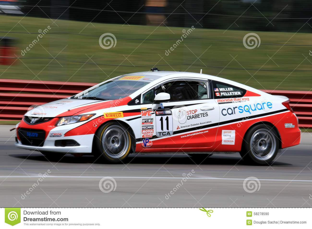 Pro Honda Civic Si Race Car On The Course Editorial Image Image Of