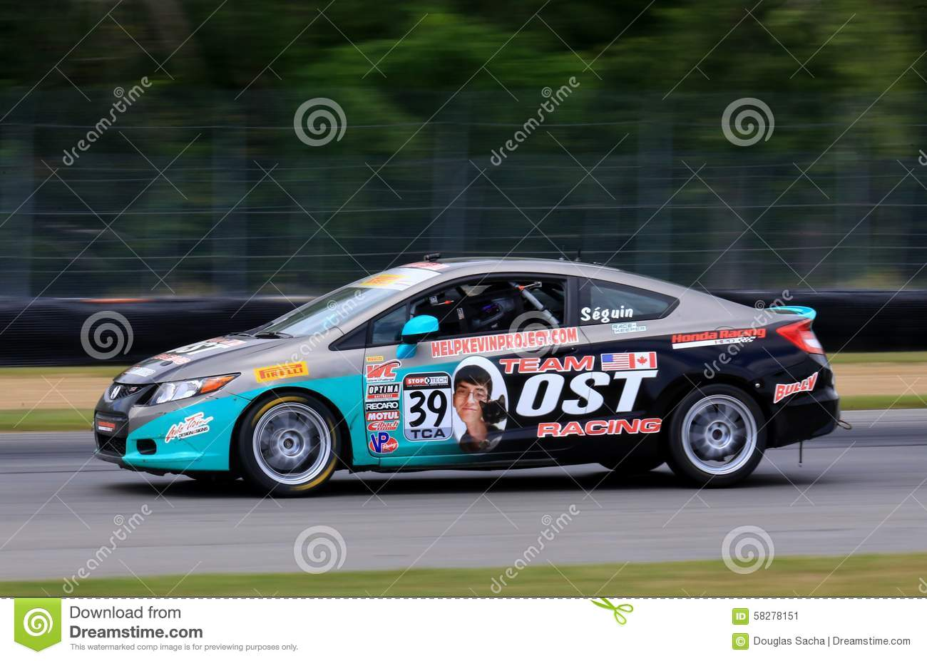 Download Pro Honda Civic Si Race Car On The Course Editorial Photo   Image  Of Honda