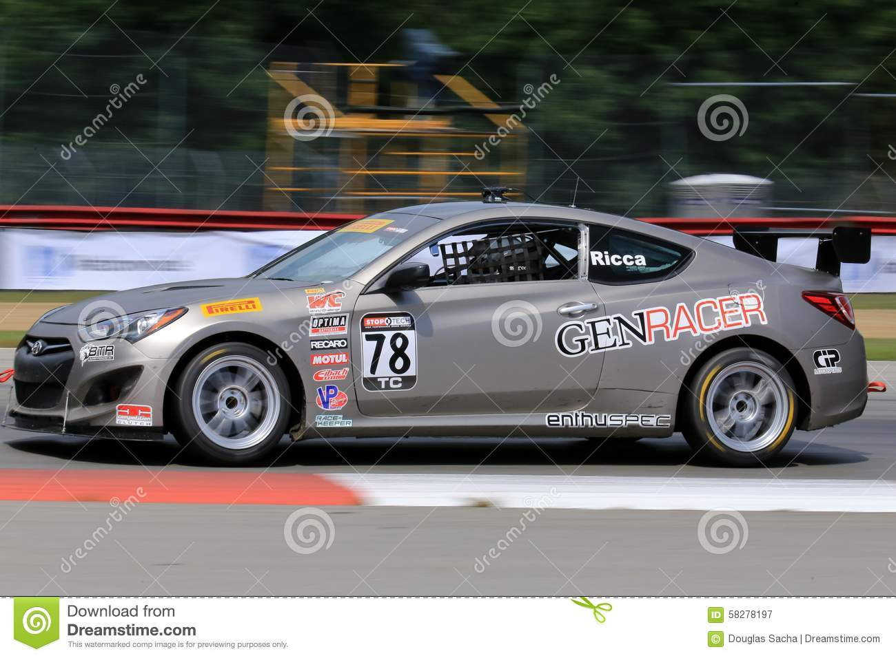 Pro Hyundai Genesis Coupe 20t Race Car On The Course Editorial