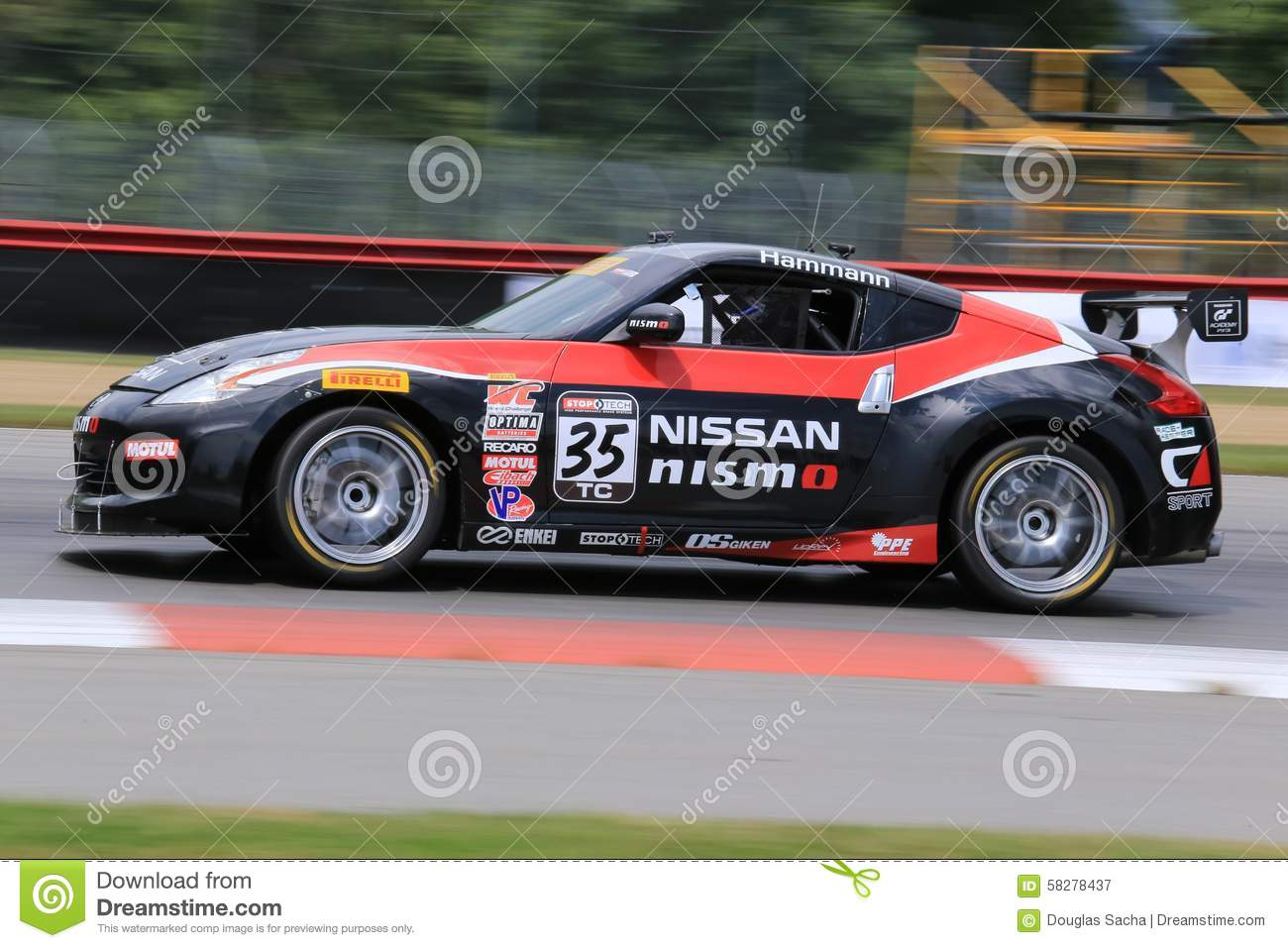 Pro Nissan 370Z Race Car On The Course