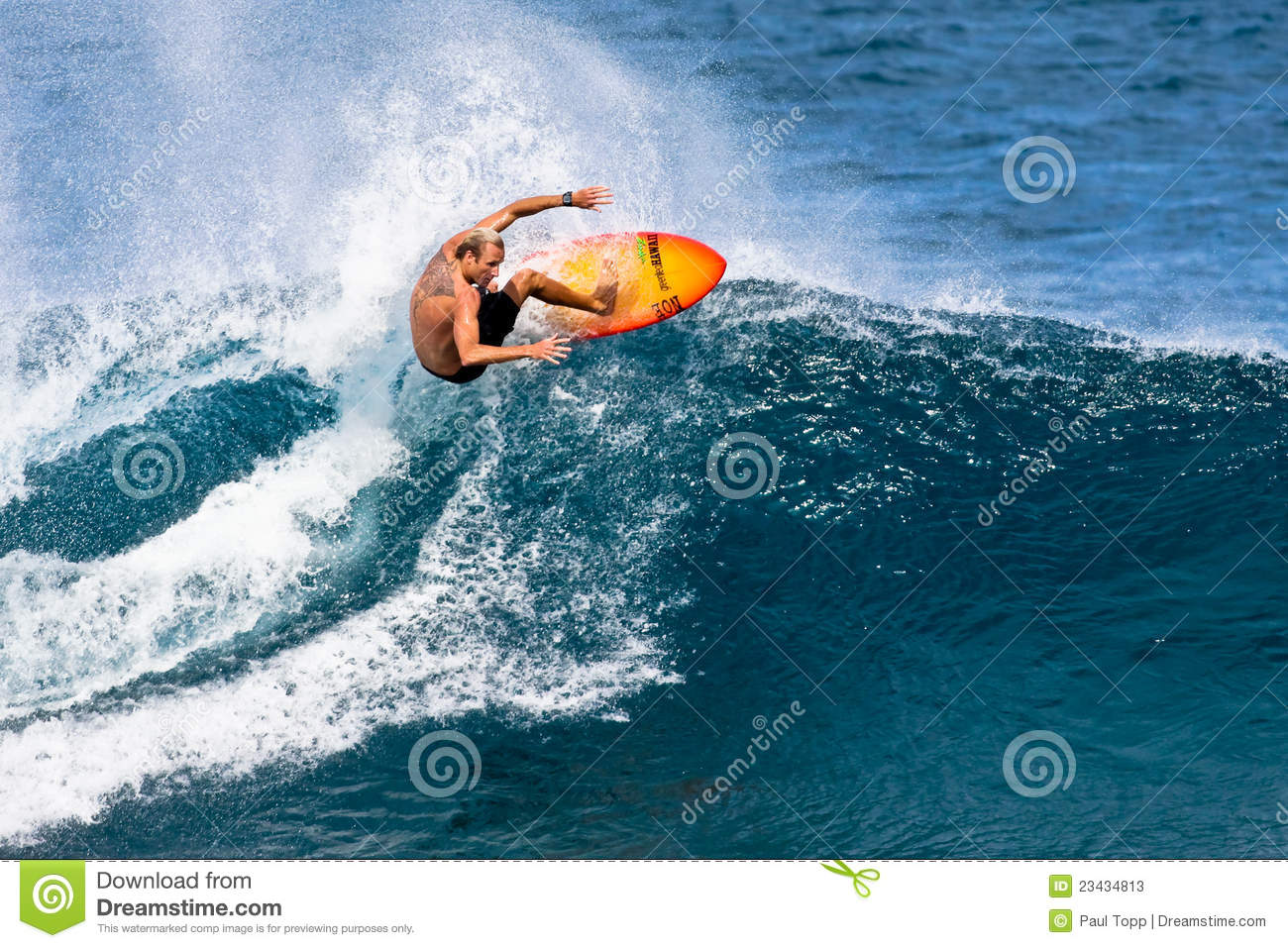 cea5af111e Pro Surfer Flynn Novak Surfing In Hawaii Editorial Stock Photo ...