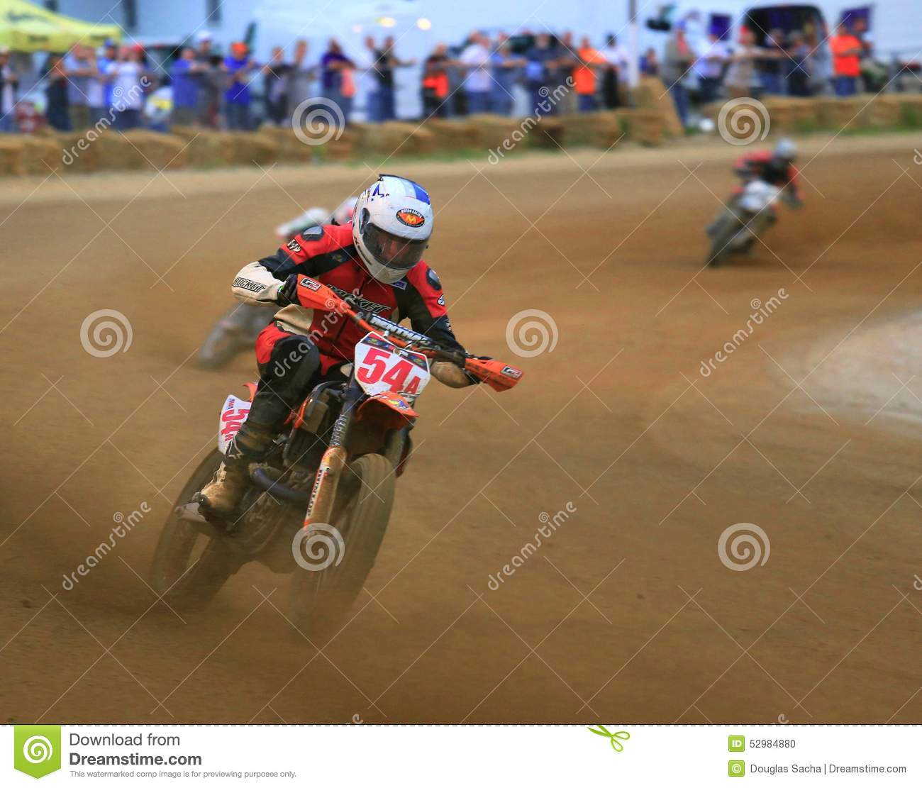 Pro track motorcycle race