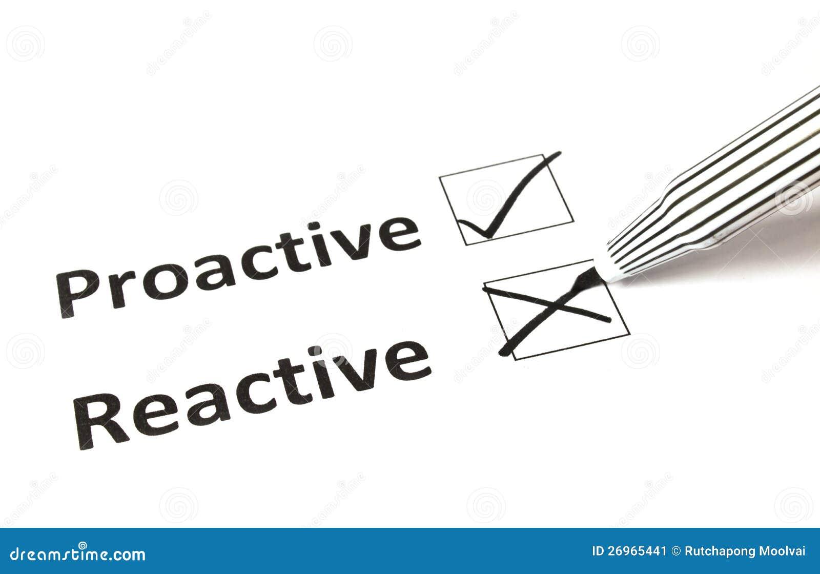 Proactive kritateckning - som är reactive eller