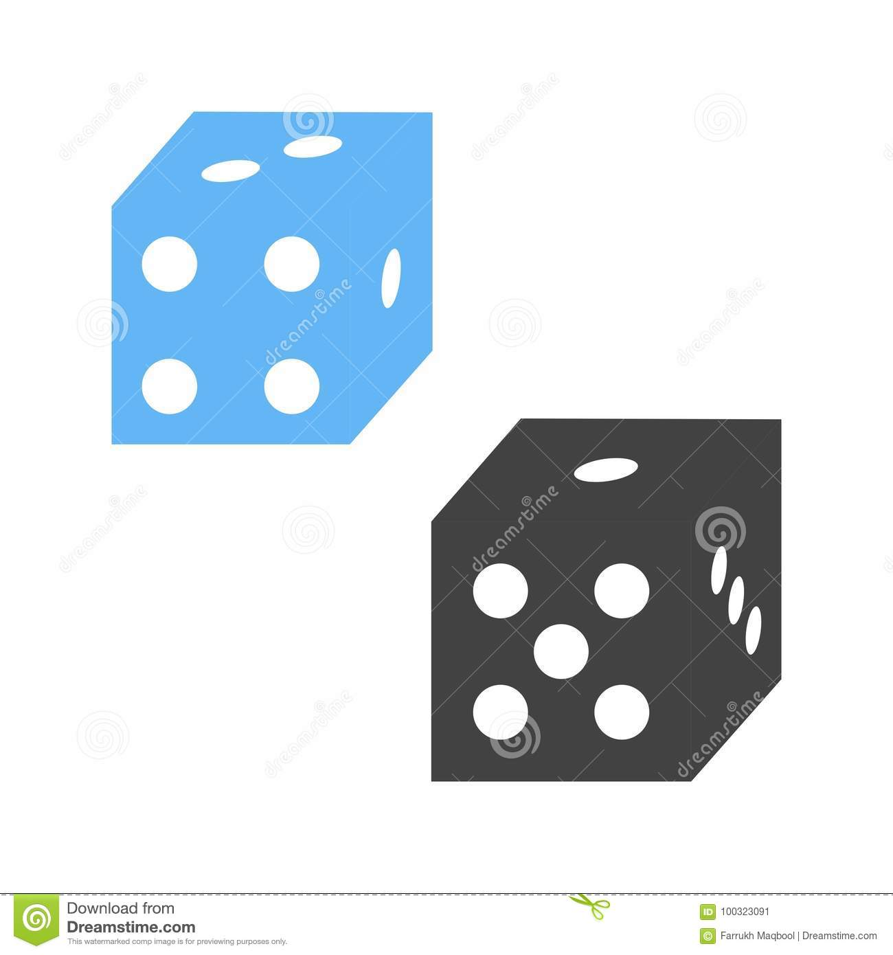 Probability stock vector illustration of dice vector 100323091 probability biocorpaavc Gallery