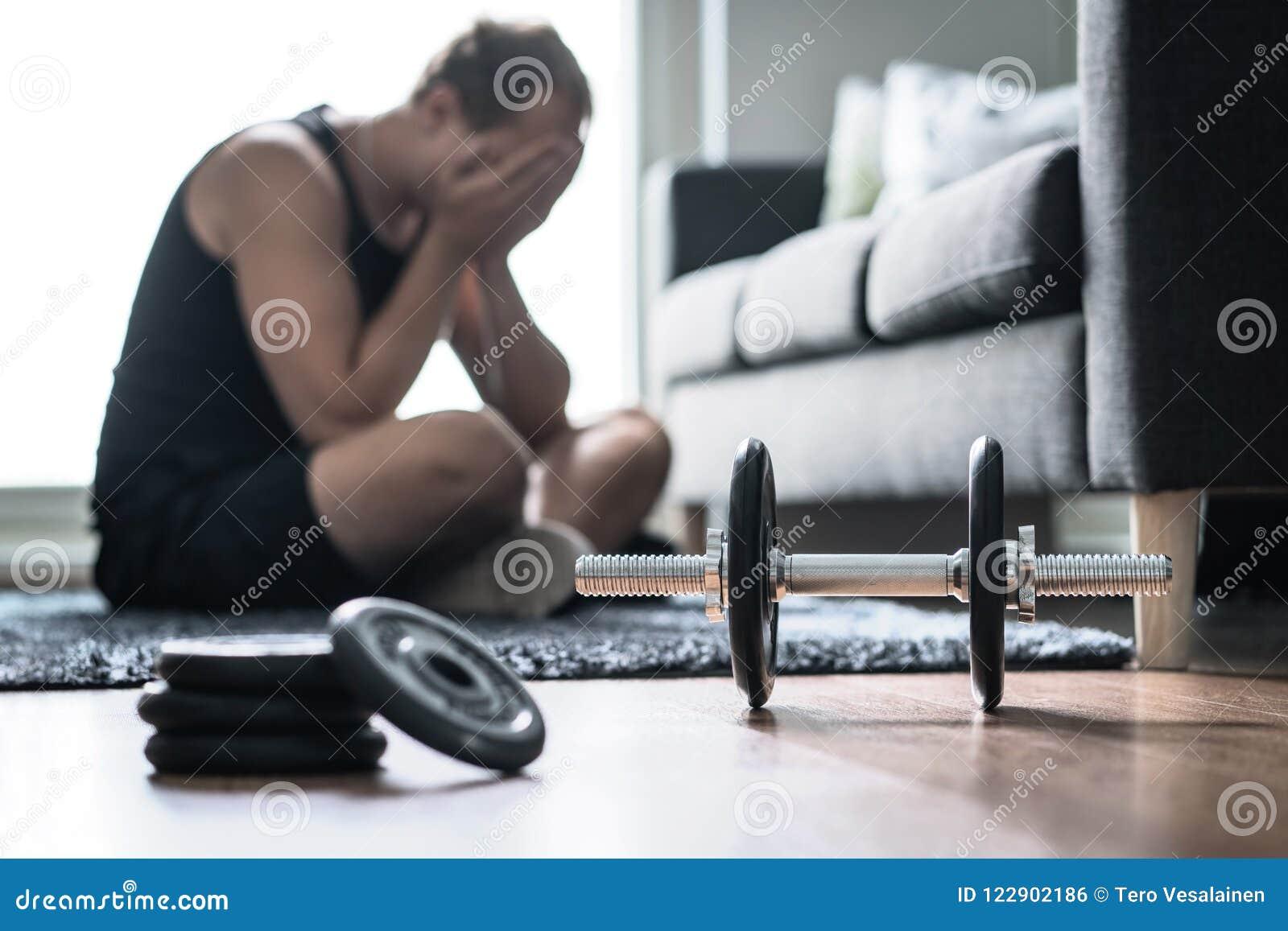 Problème de séance d entraînement, effort dans la forme physique ou trop de formation