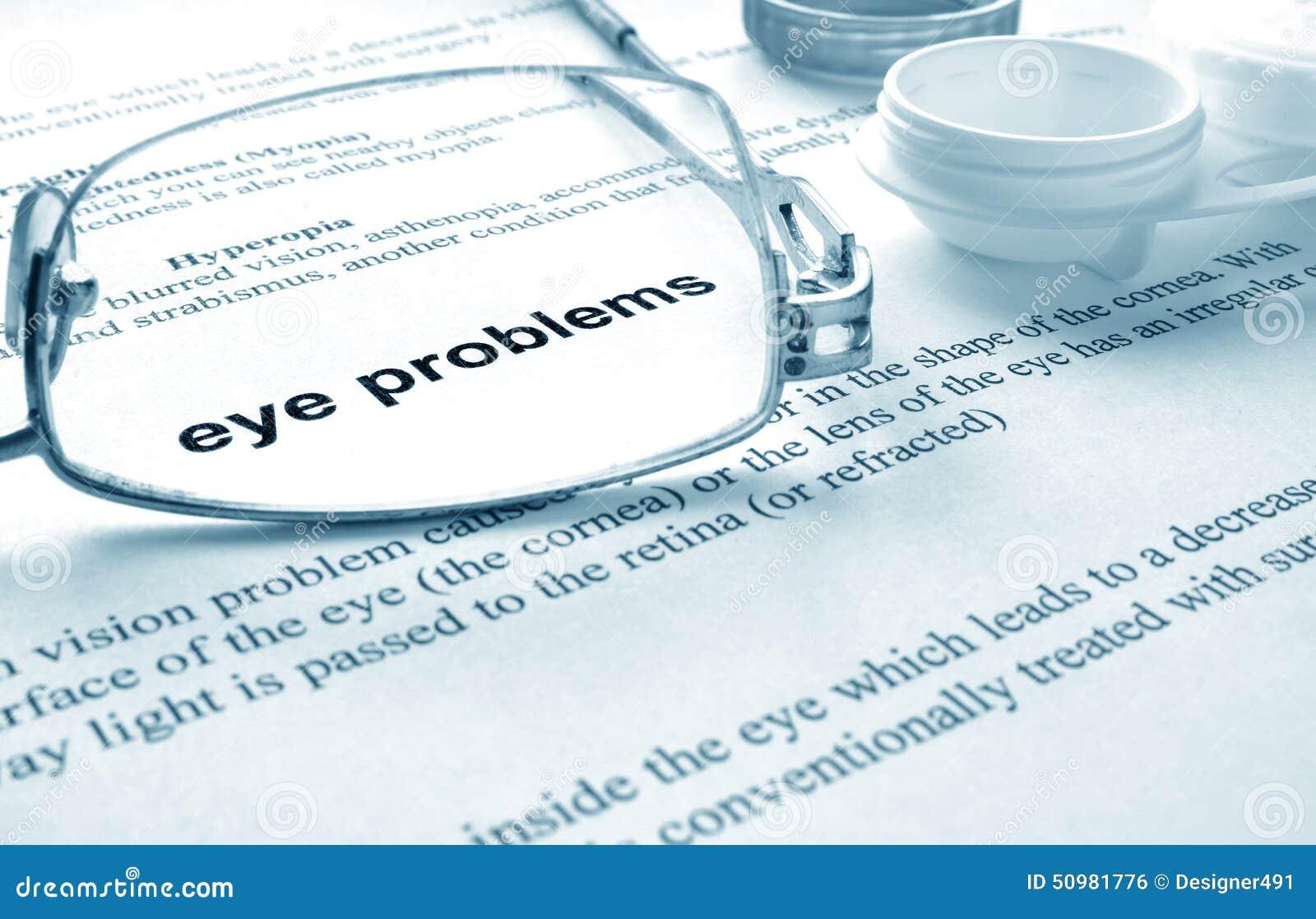 Problèmes d oeil