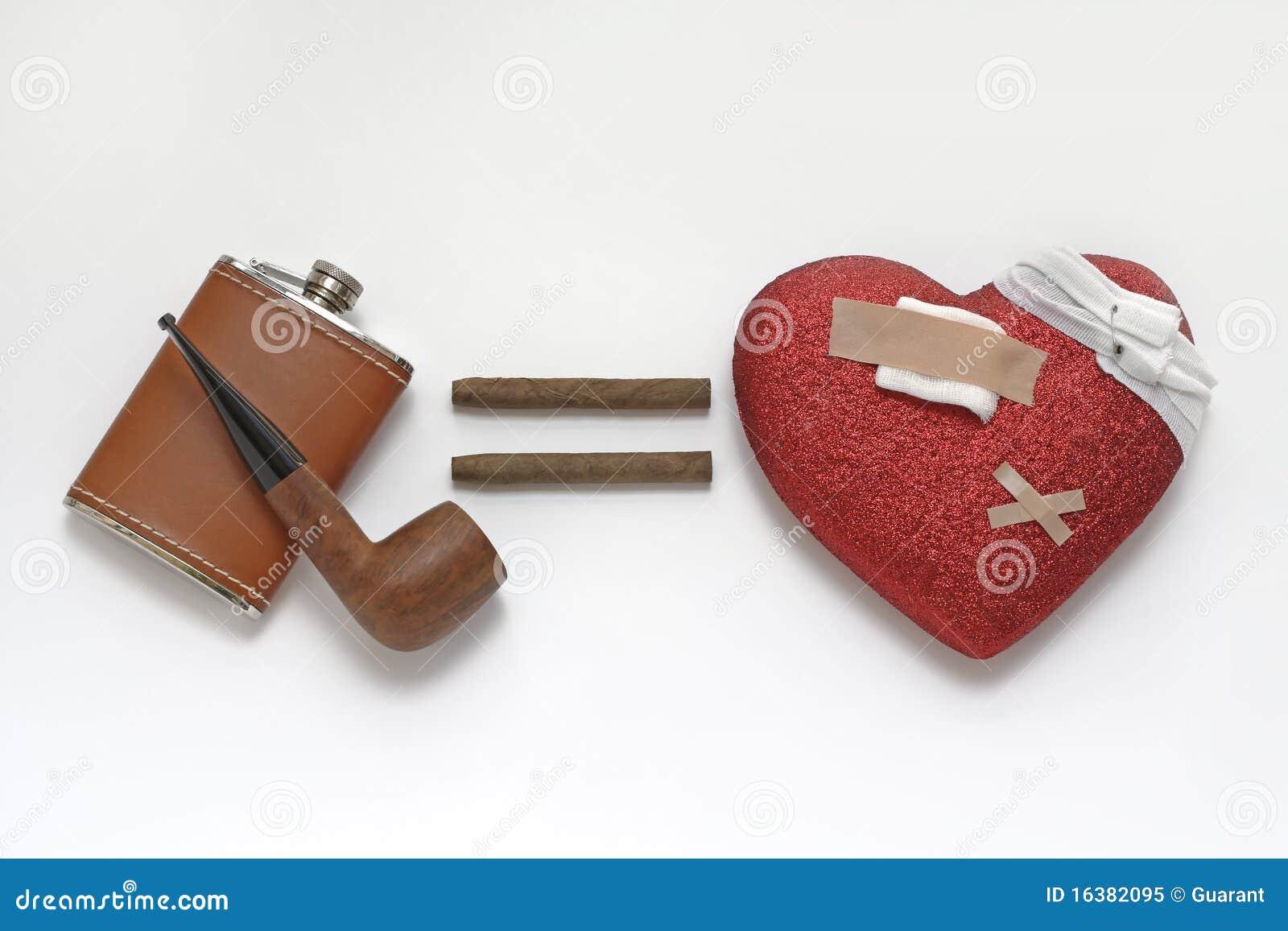 Problèmes de coeur résultant de l alcool et du fumage
