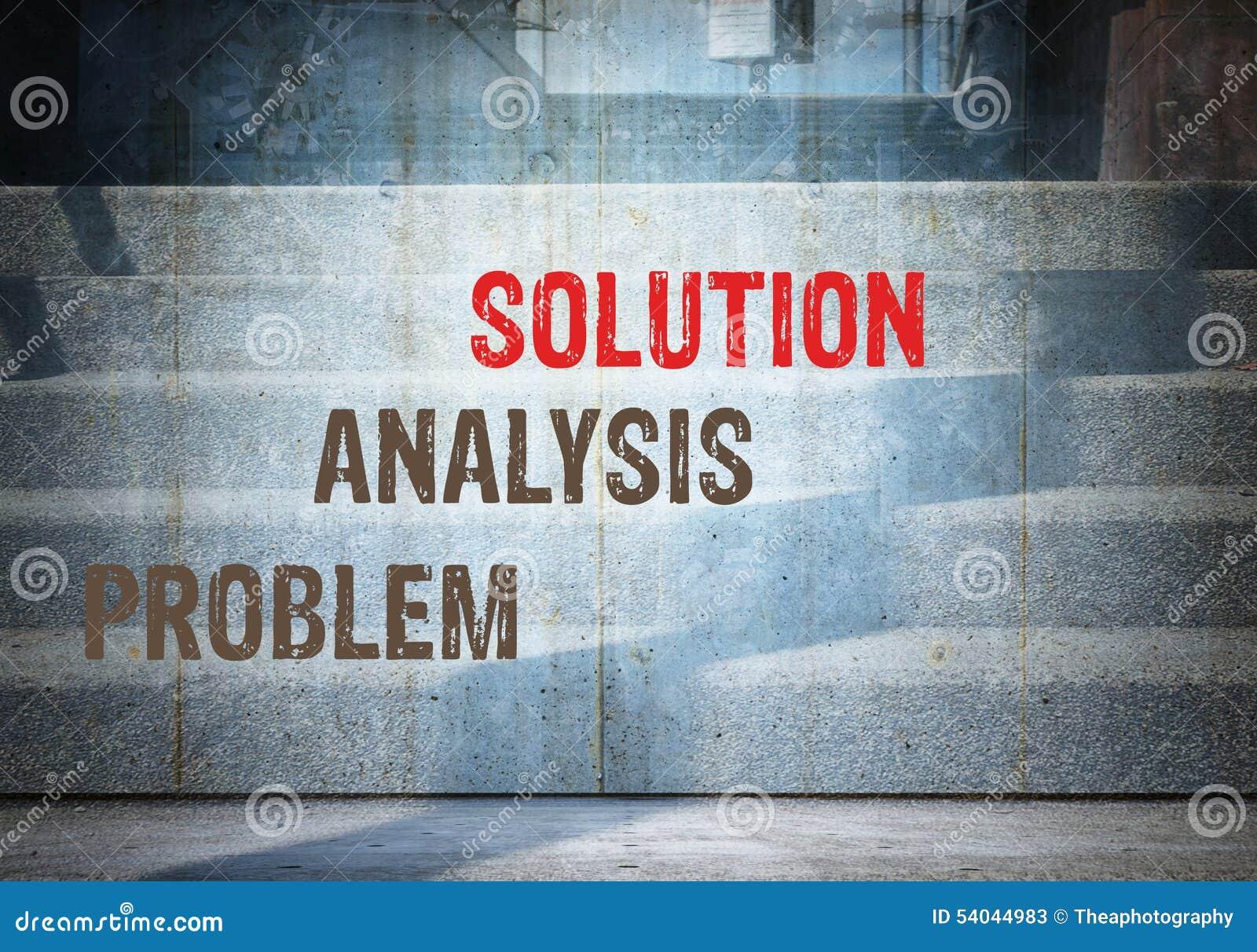 problem solution analysis essays