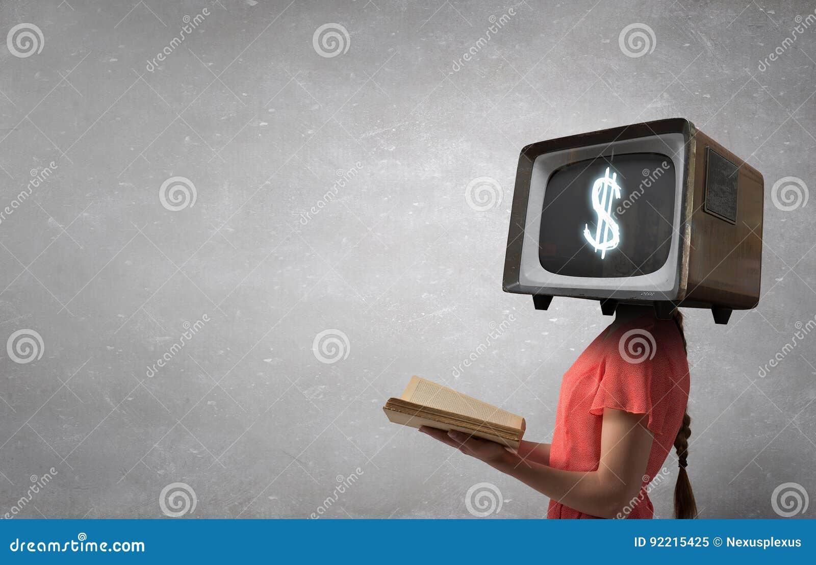Problem der Fernsehsuchts Gemischte Medien