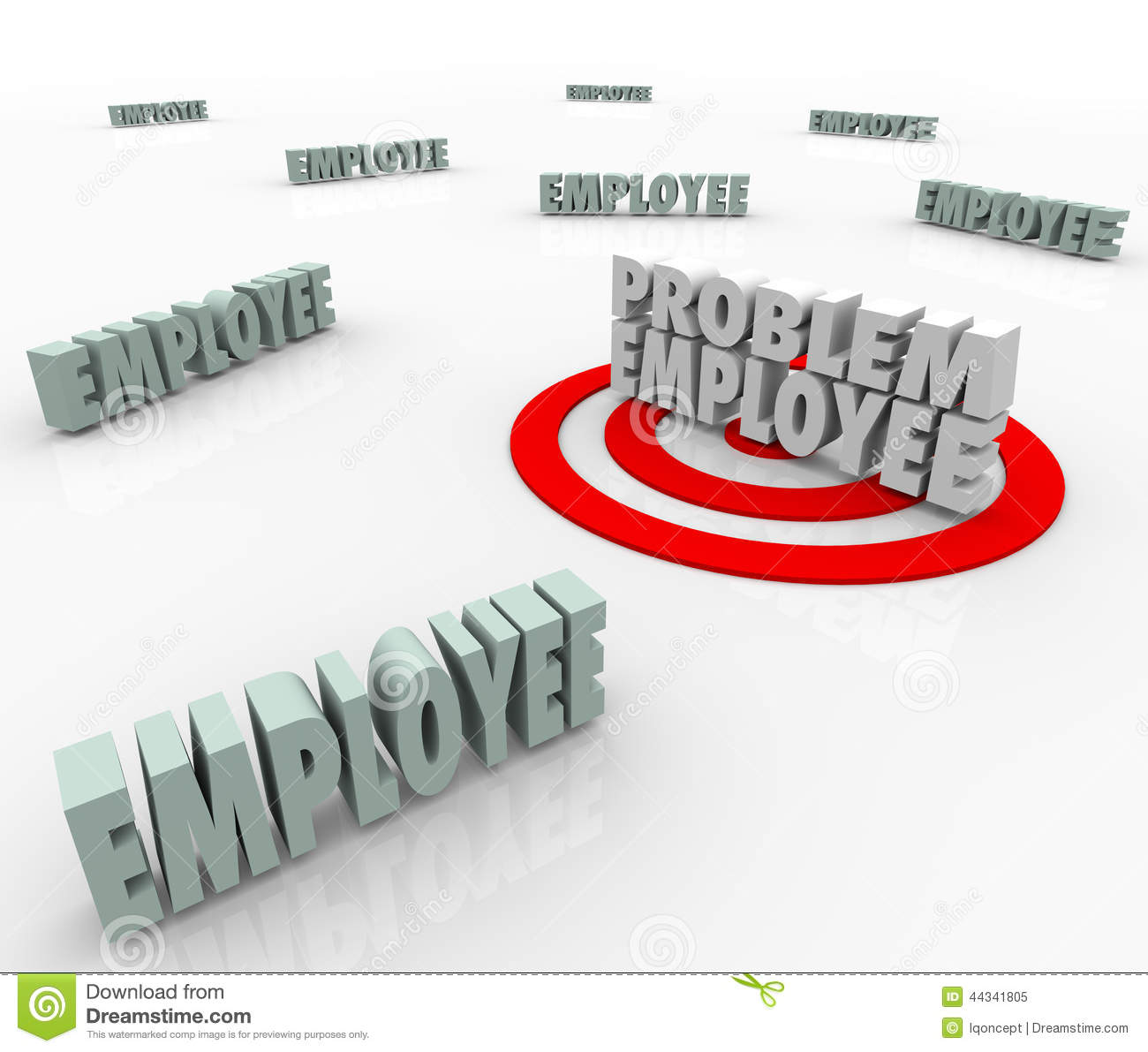 problem employee level good worker difficult person gauge stock problem employee difficult worker targeted in company workforce royalty stock photo