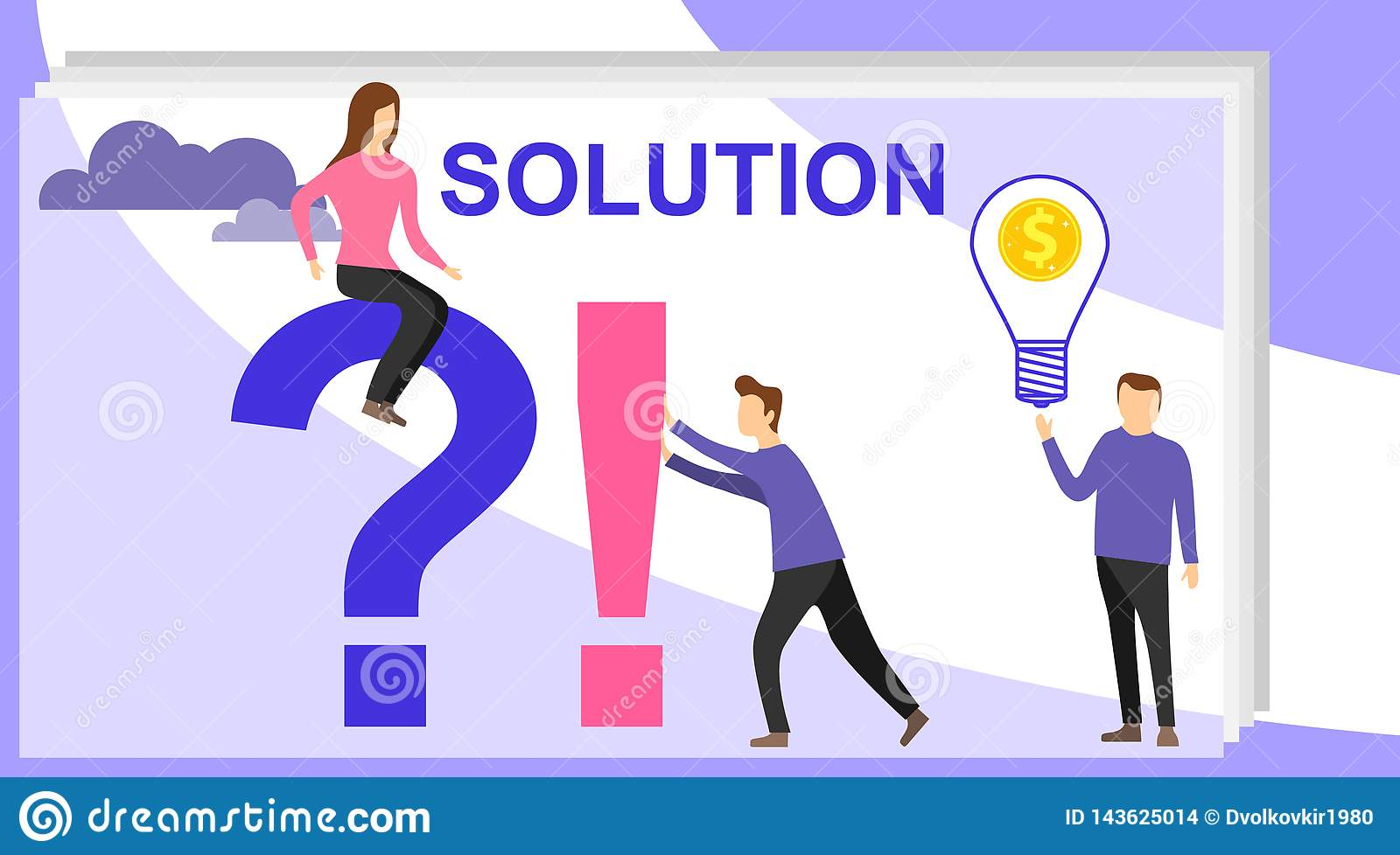 Problem And Solution Concept  Search For Confused Idea Or
