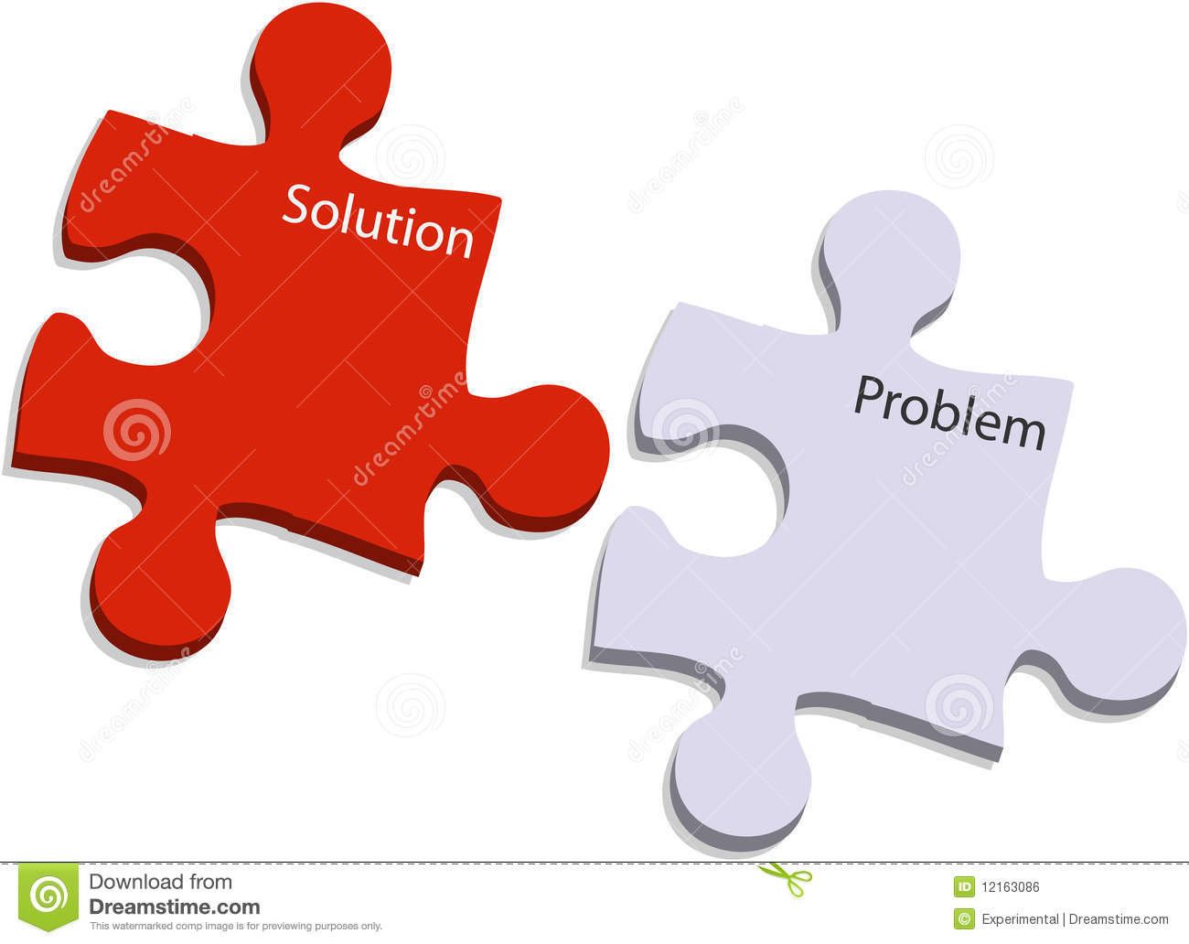 Problem And Solution Puzzle Royalty Free Stock Image - Image: 12163086