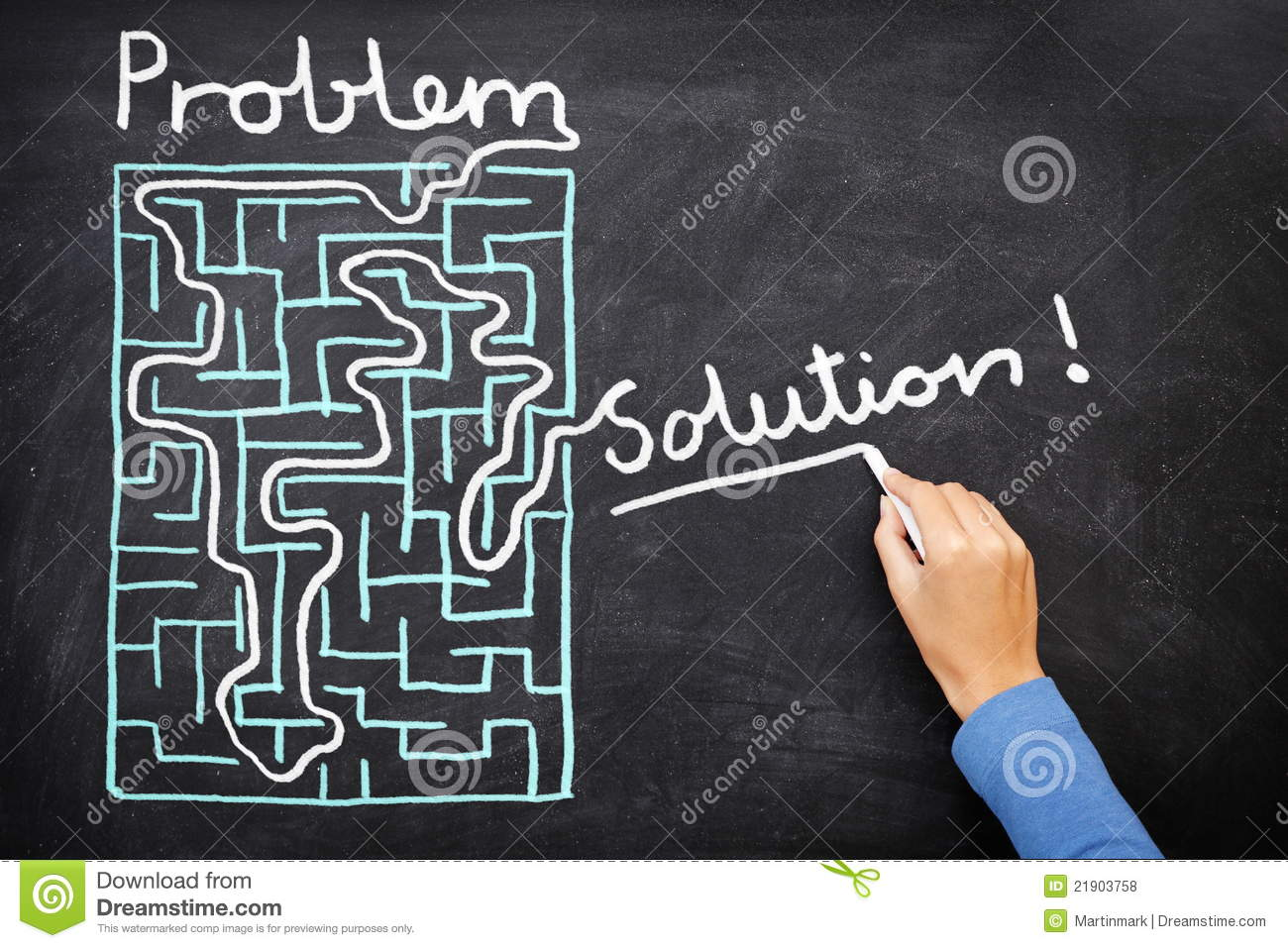 Problem And Solution - Solving Maze Royalty Free Stock Photos - Image ...