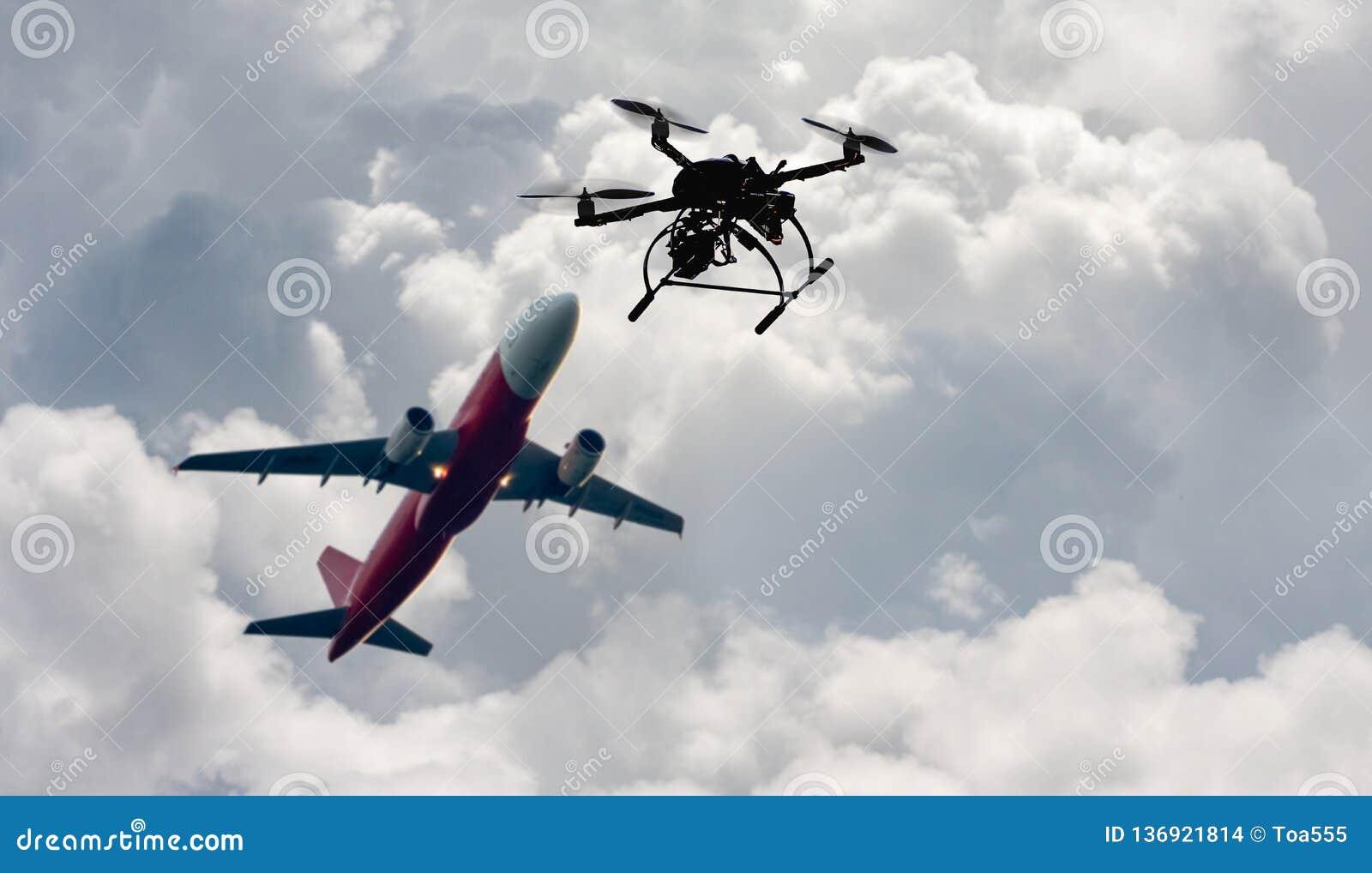 Problem som olagligt flyger ett surr nära flygplats