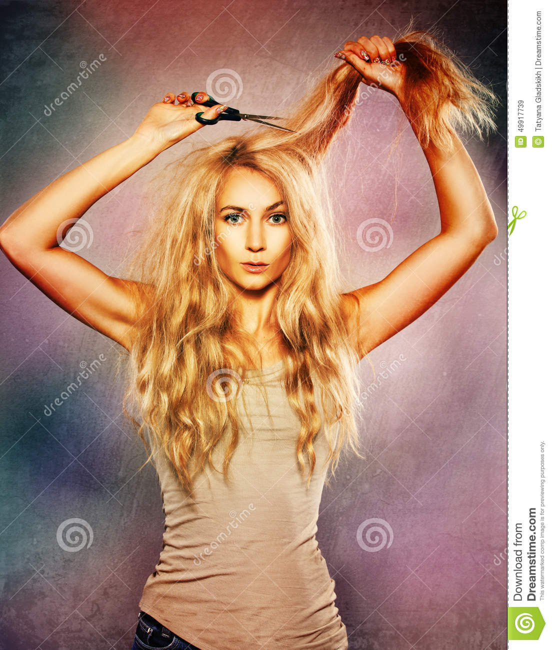 how to cut split ends off
