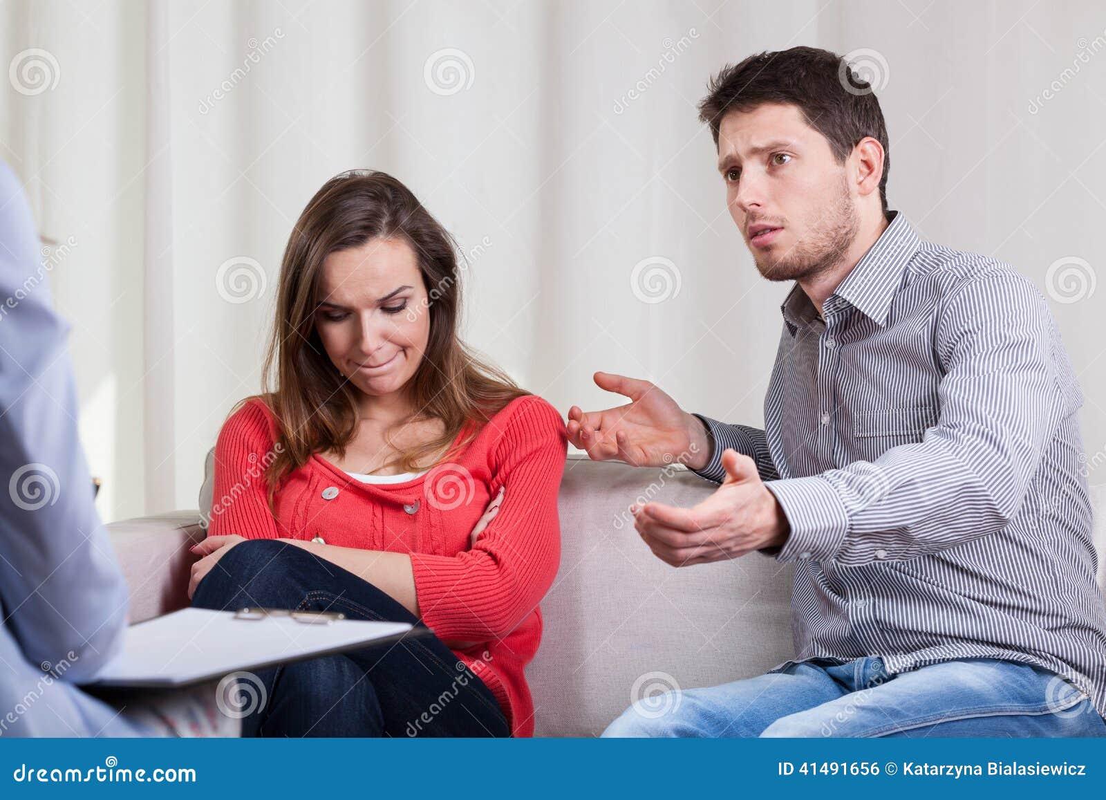 Problemas de la boda en la psicoterapia