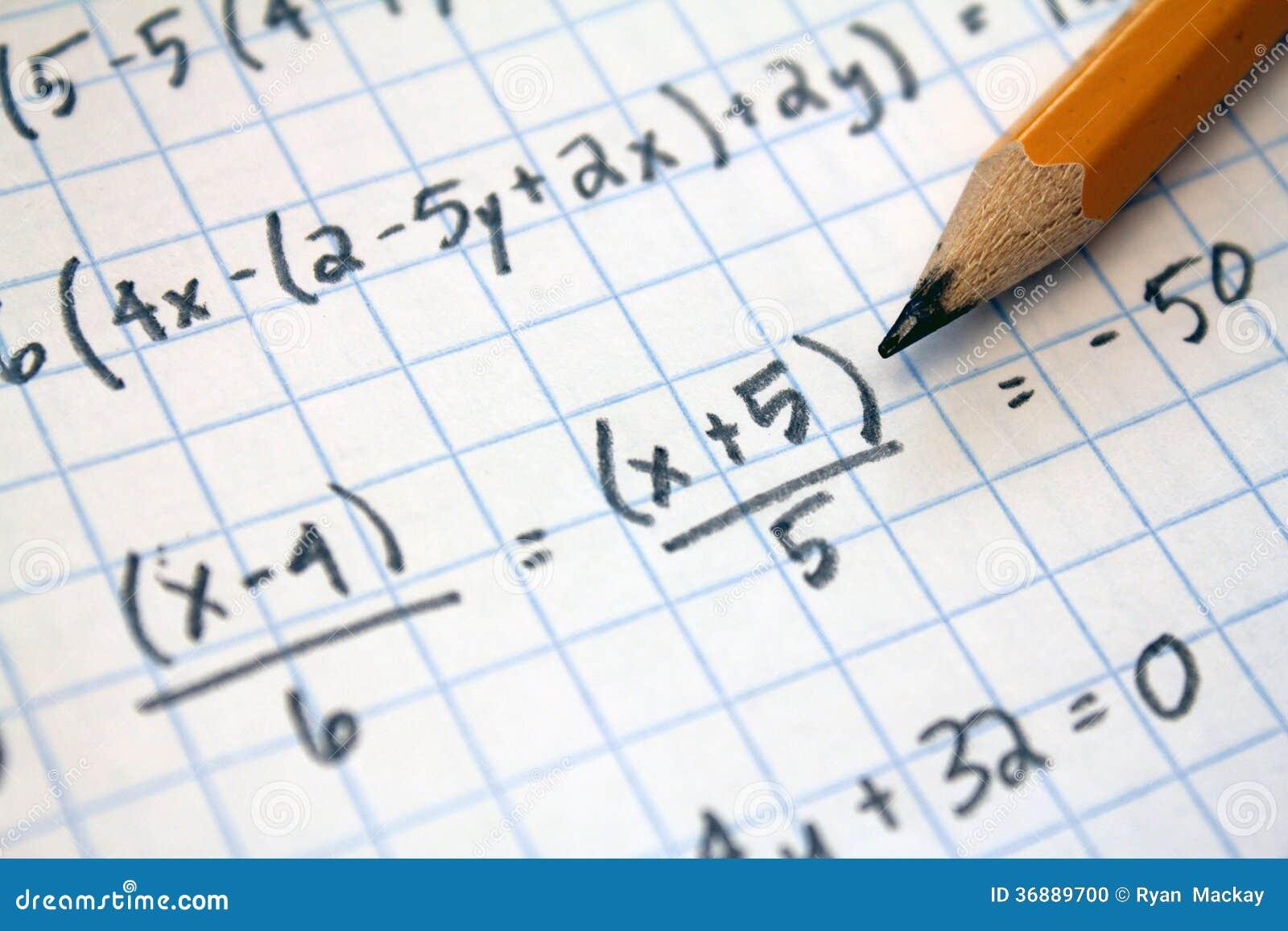 Download Problemi per la matematica fotografia stock. Immagine di equazione - 36889700
