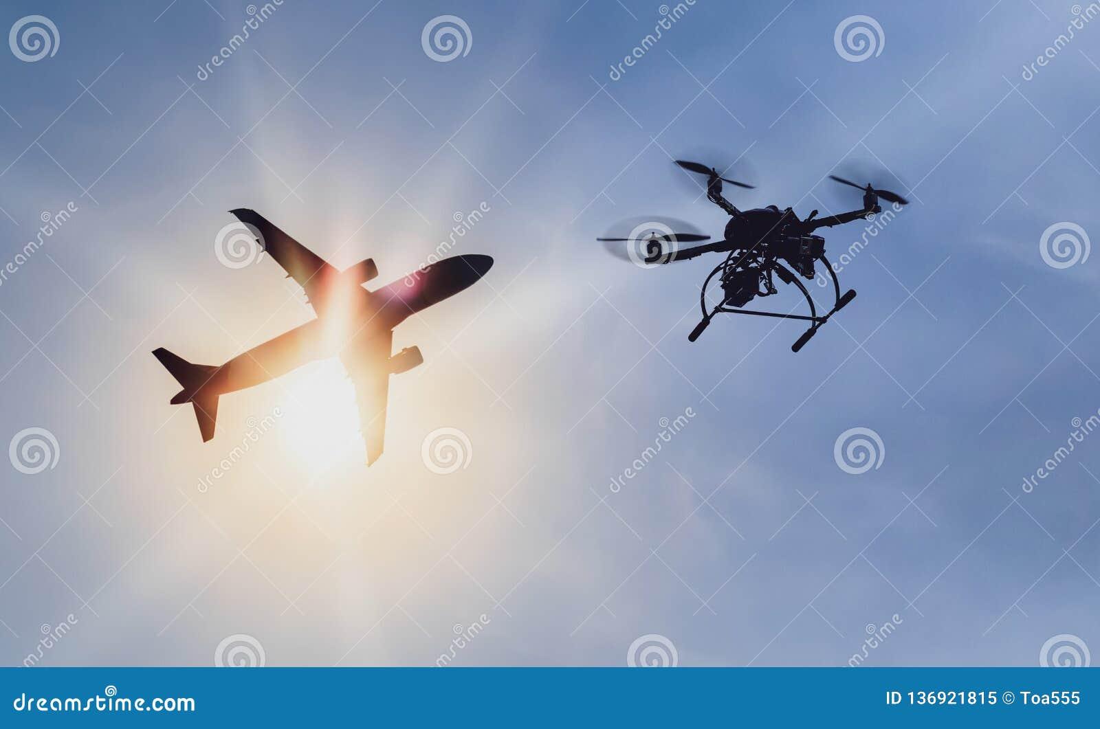 Problemowy latanie truteń nielegalnie blisko lotniska