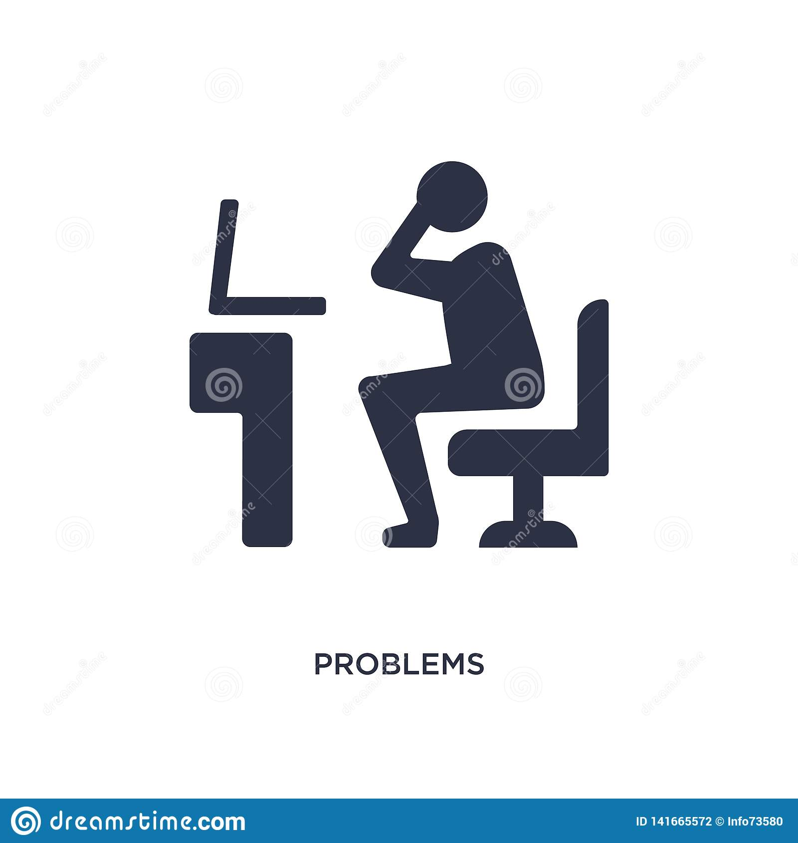 problems icon on white background. Simple element illustration from job resume concept