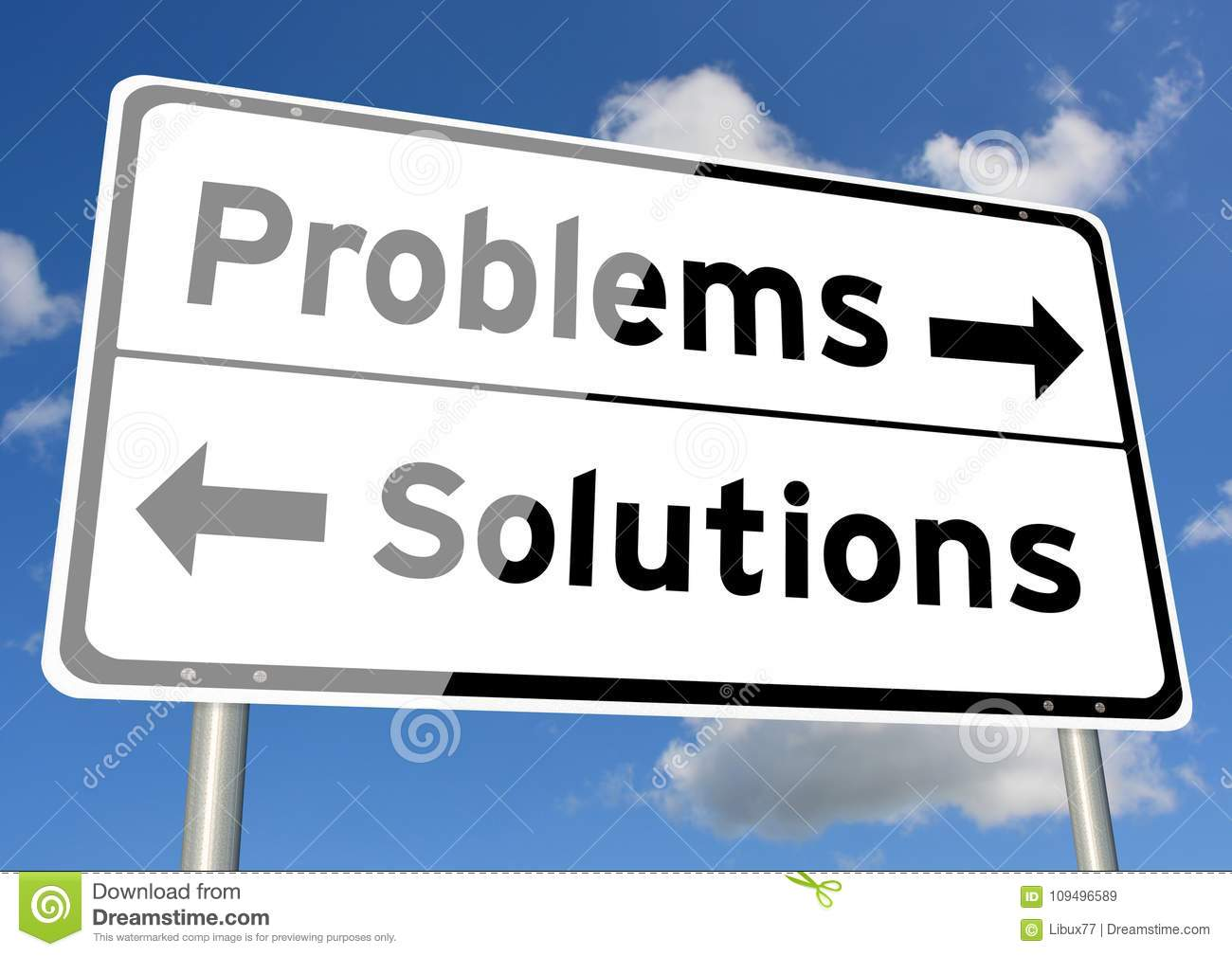 Problems Solutions choice signpost concept sky