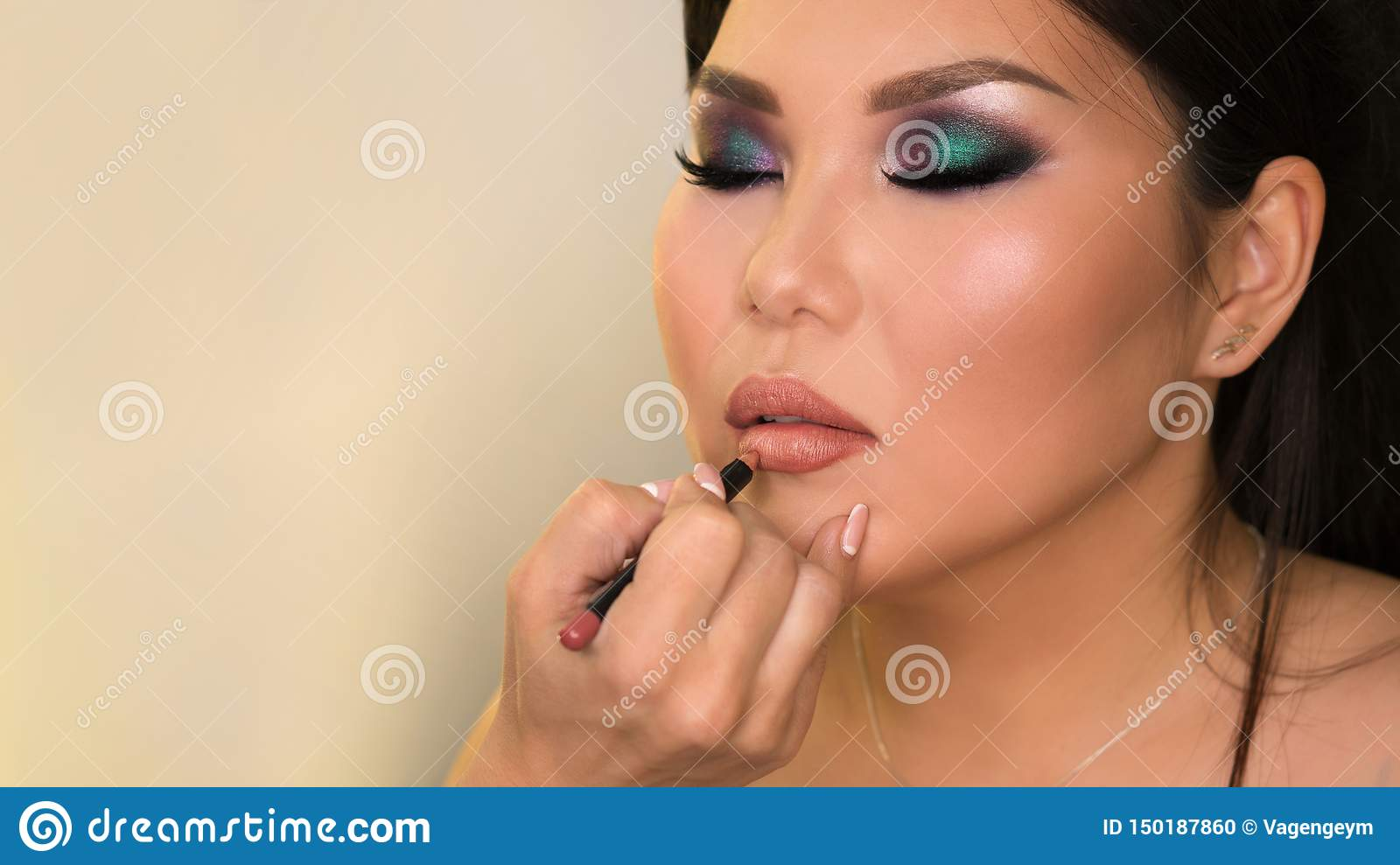 Proc?d? de cr?ation d image Maquillage