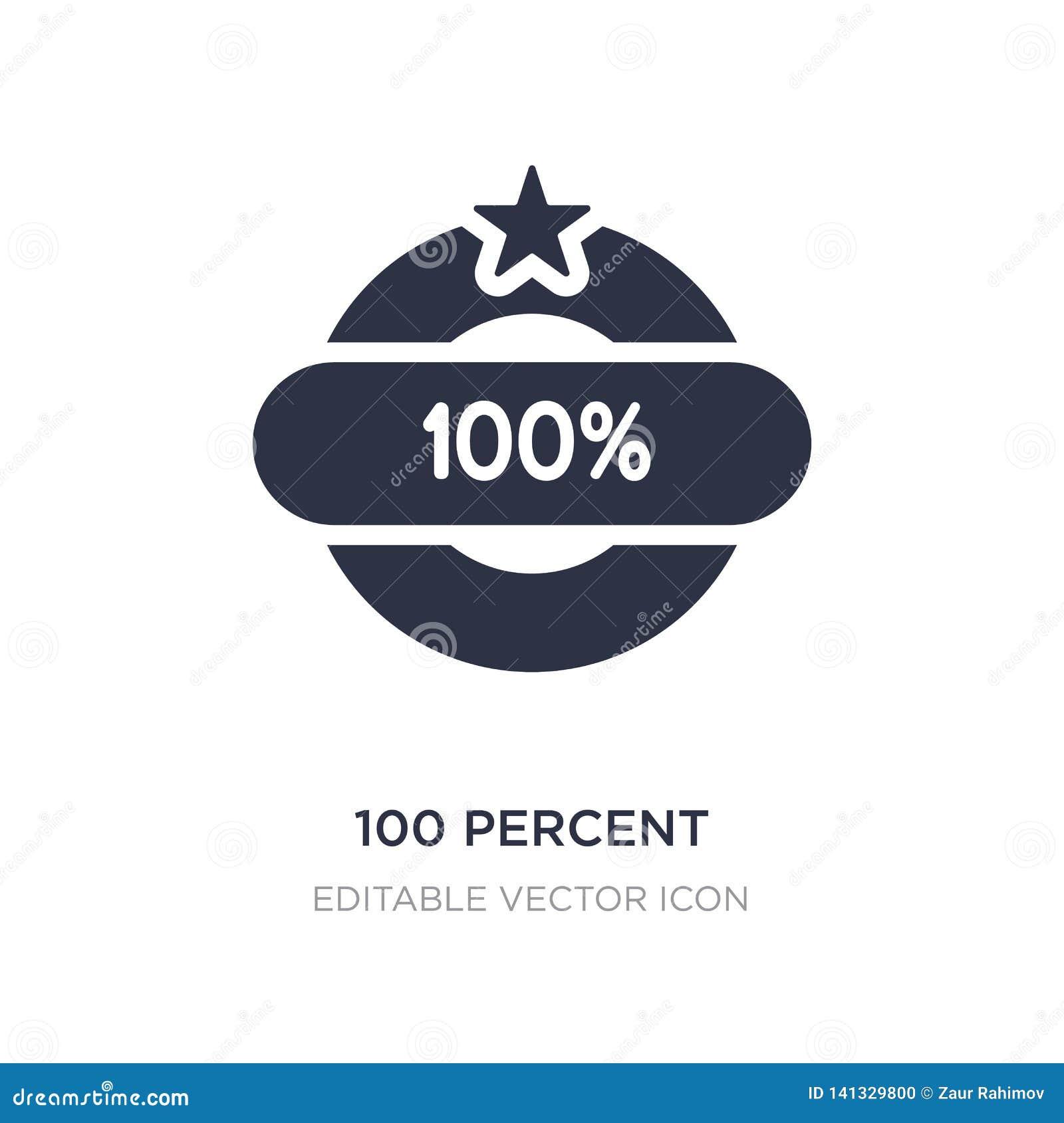 100 procentów ikona na białym tle Prosta element ilustracja od Różnego pojęcia